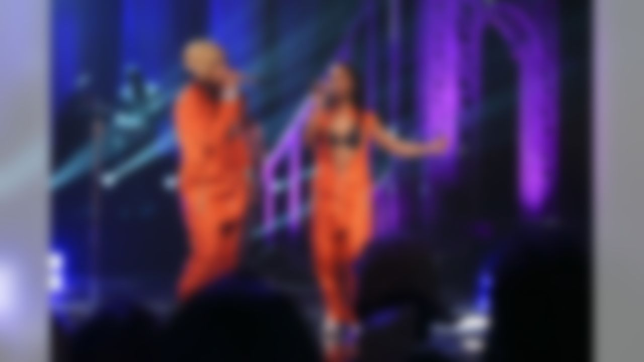 """Tionne """"T-Boz"""" Watkins, left, and Rozonda """"Chilli"""" Thomas perform on stage during the VH1 Super Bowl Blitz: TLC concert event at the Beacon Theatre, Thursday, Jan. 30, 2014, in New York. (AP Photo/John Minchillo)"""