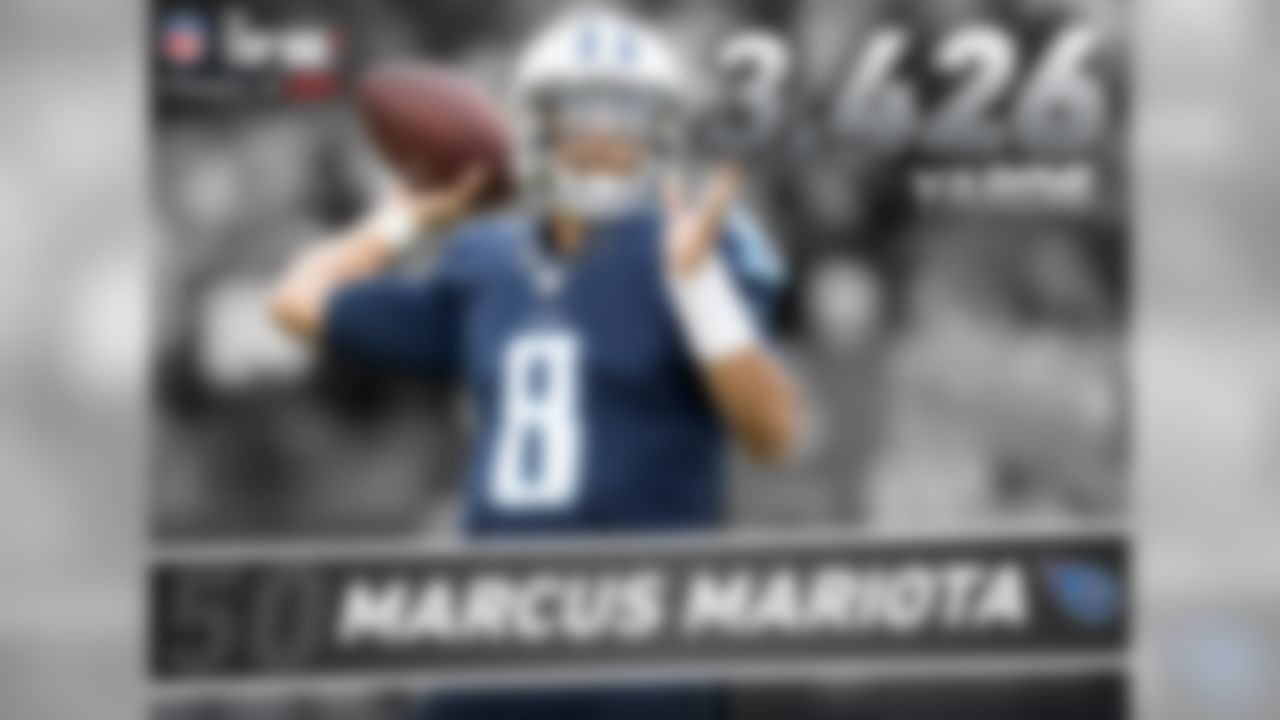 In 2016, Mariota set a career-high in passing yards (3,426), passing touchdowns (26) and passer rating (95.6). His 26 passing touchdowns are the fourth-most in a single season in Titans/Oilers team history, and the most since Warren Moon had 33 in 1990.