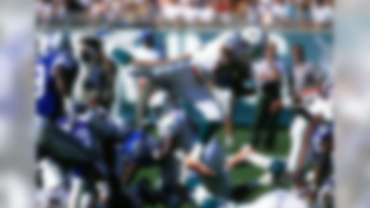 1993, Miami Dolphins- 75 receptions  (AP Photo / Al Messerschmidt)