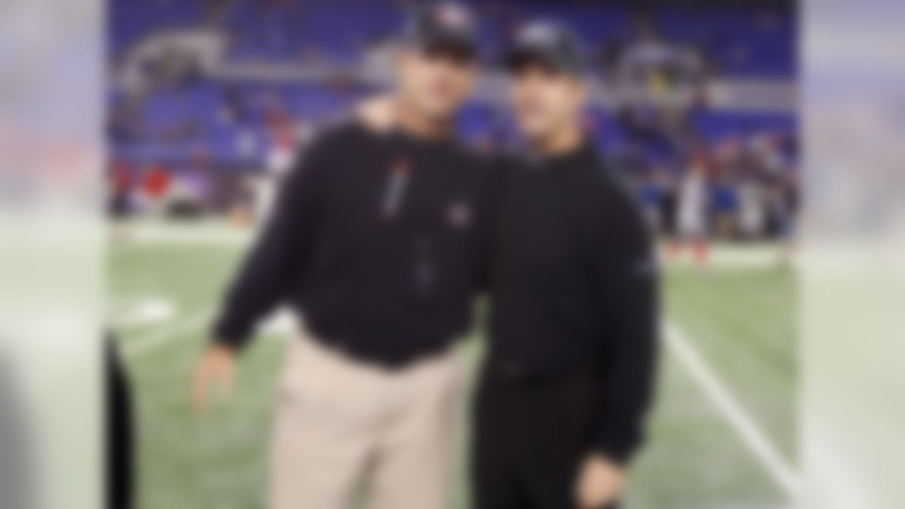 Brothers Jim and John Harbaugh met once before as NFL head coaches. On Thanksgiving Day of 2011, John's Baltimore Ravens defeated Jim's San Francisco 49ers, 16-6.  The Ravens sacked 49ers quarterback Alex Smith nine times in the game, their highest sack total in 92 games under John Harbaugh.  It is also the most sacks allowed by the 49ers in 36 games under Jim Harbaugh.