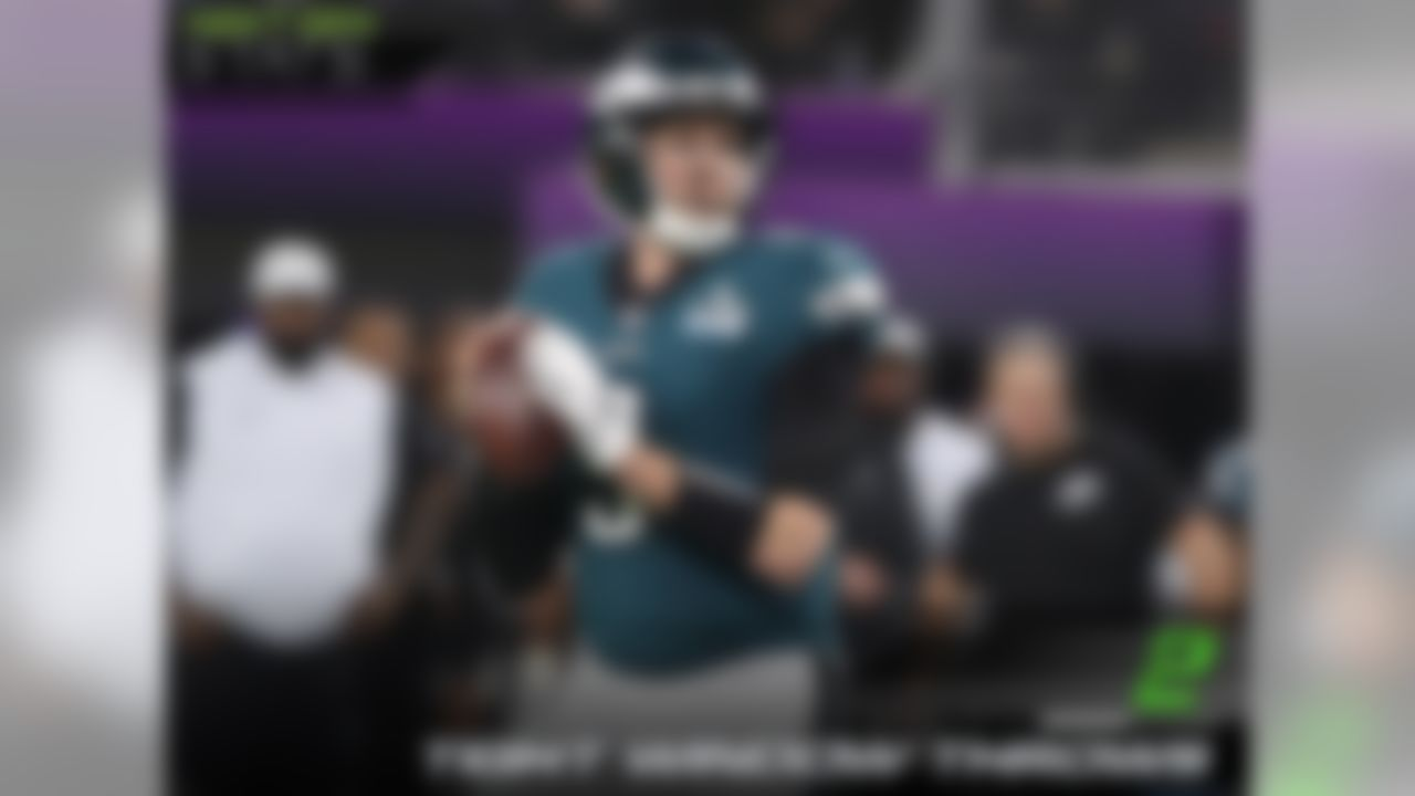 Philadelphia Eagles quarterback Nick Foles has been consistently effective when throwing into tight windows this season and that continued during Super Bowl LII as he threw 2 of his 3 touchdowns into tight windows.