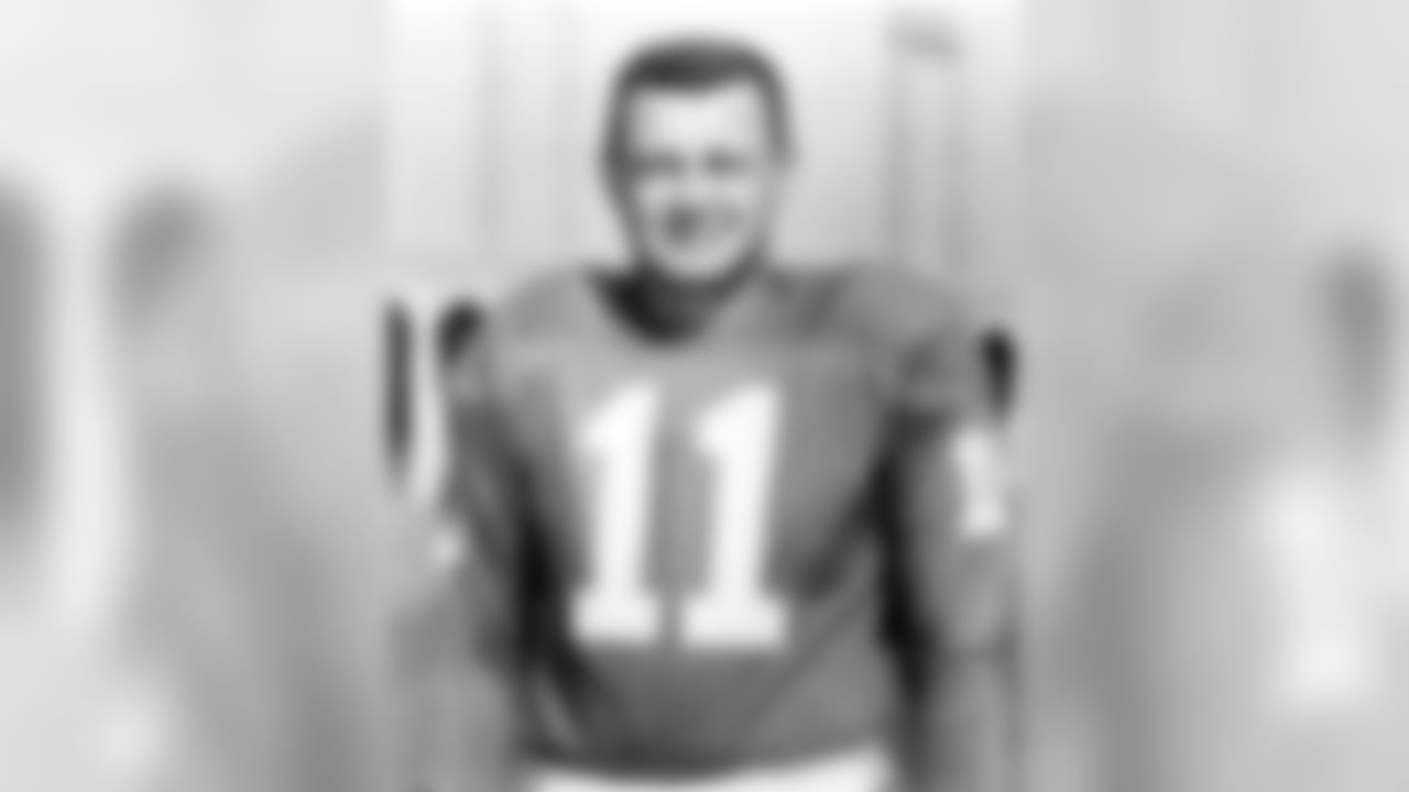 Hall of Fame quarterback Norm Van Brocklin of the Philadelphia Eagles poses for a portrait  (National Football League)