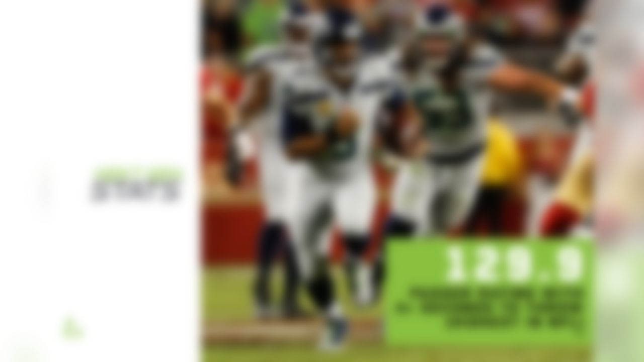 Russell Wilson has willed the Seahawks to an 8-2 record even though they have trailed for over half of their offensive plays in 2019. The most impressive part of Wilson's game has been how well he's performed in high-difficulty situations, especially given his volume in those situations. Wilson has had 15.3% of his passes come on extended plays (4+ seconds to throw), the second-highest rate in the NFL, and he has averaged 9.6 yards per attempt (fourth-most) with a 129.9 passer rating (highest) on those passes. He has been aggressive throwing downfield, passing deep on 15.6% of his attempts (third-highest rate) while completing 16.9% of his deep passes above expectation (highest) for 7 TDs and 0 INTs. Although Wilson has excelled in high-leverage situations, he's also excelled in stable situations, with the highest passer rating (122.4) and second-most yards per attempt (9.2) when not pressured.