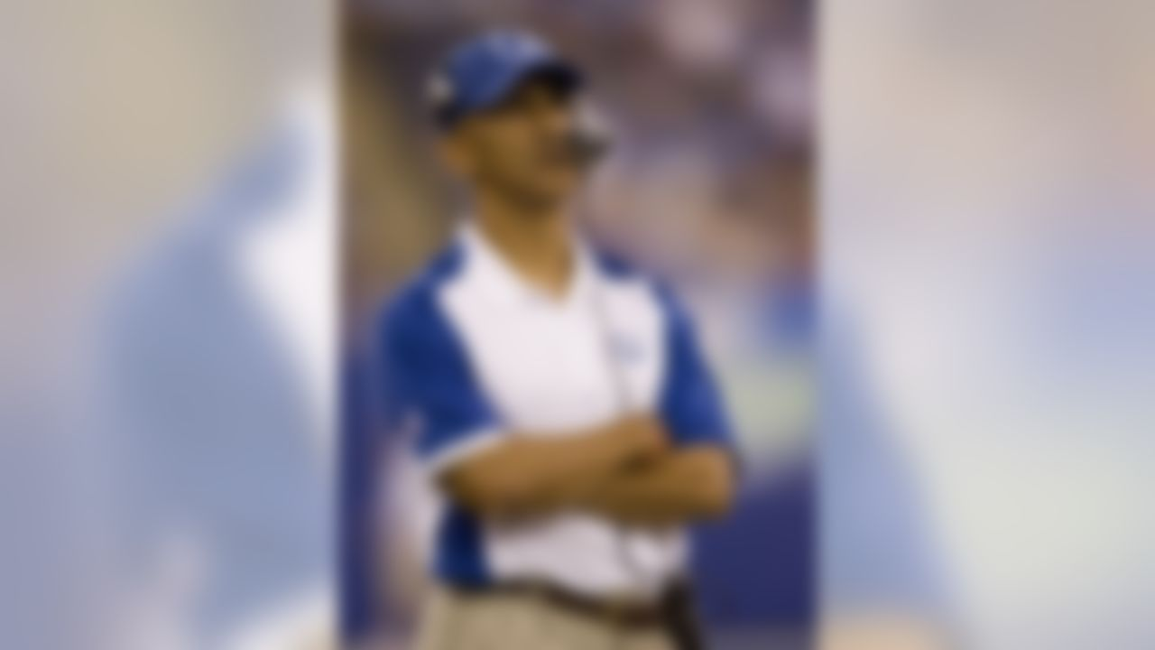 """Colts head coach Tony Dungy says he wasn't as concerned about his team's run defense last season as some might think. """"[Opponents were] trying to keep our offense off the field by running the ball,' Dungy said, """"and they're kicking field goals, and we're scoring touchdowns."""" The Colts' passing game averaged 7.53 yards per pass play on offense and surrendered just 5.79 per pass play on defense. (Dilip Vishwanat/Getty Images)"""