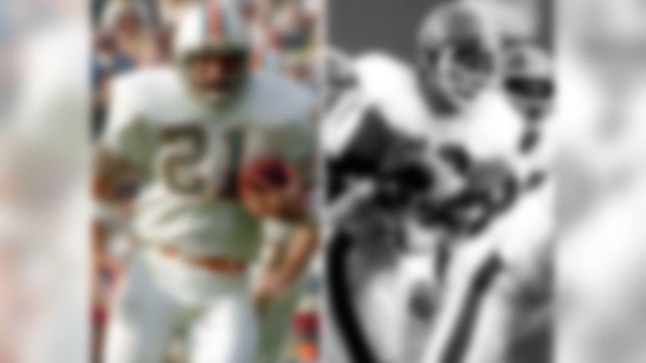 Dolphins RB JIM KIICK after leaving Miami, played in Denver in 1976-77 and was teammate of linebacker RANDY GRADISHAR�   (Photos by US Presswire and Getty Images)