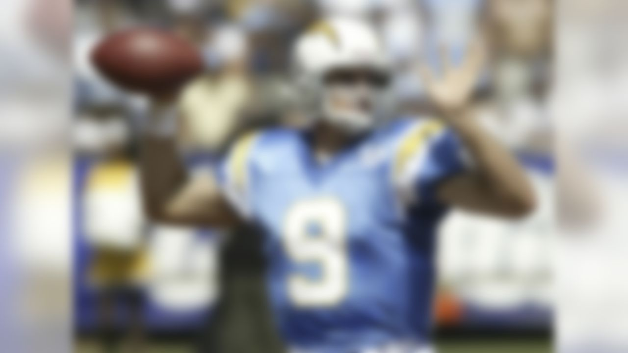 Possessing the No. 1 overall selection of the 2001 draft, the Chargers traded out of that slot and the selection then went to the Atlanta Falcons, who promptly took Michael Vick. The Chargers then went on to fill two major needs, drafting RB LaDainian Tomlinson at No. 6 overall and Brees 26 spots later. While Brees and Tomlinson helped lift the Chargers out of the doldrums, the quarterback saved his finest work for another team. Brees won Super Bowl XLIV (and earned game MVP honors) with the New Orleans Saints, two seasons later broke the single-season passing yardage record and a season after that set a new mark for consecutive games with a touchdown pass.