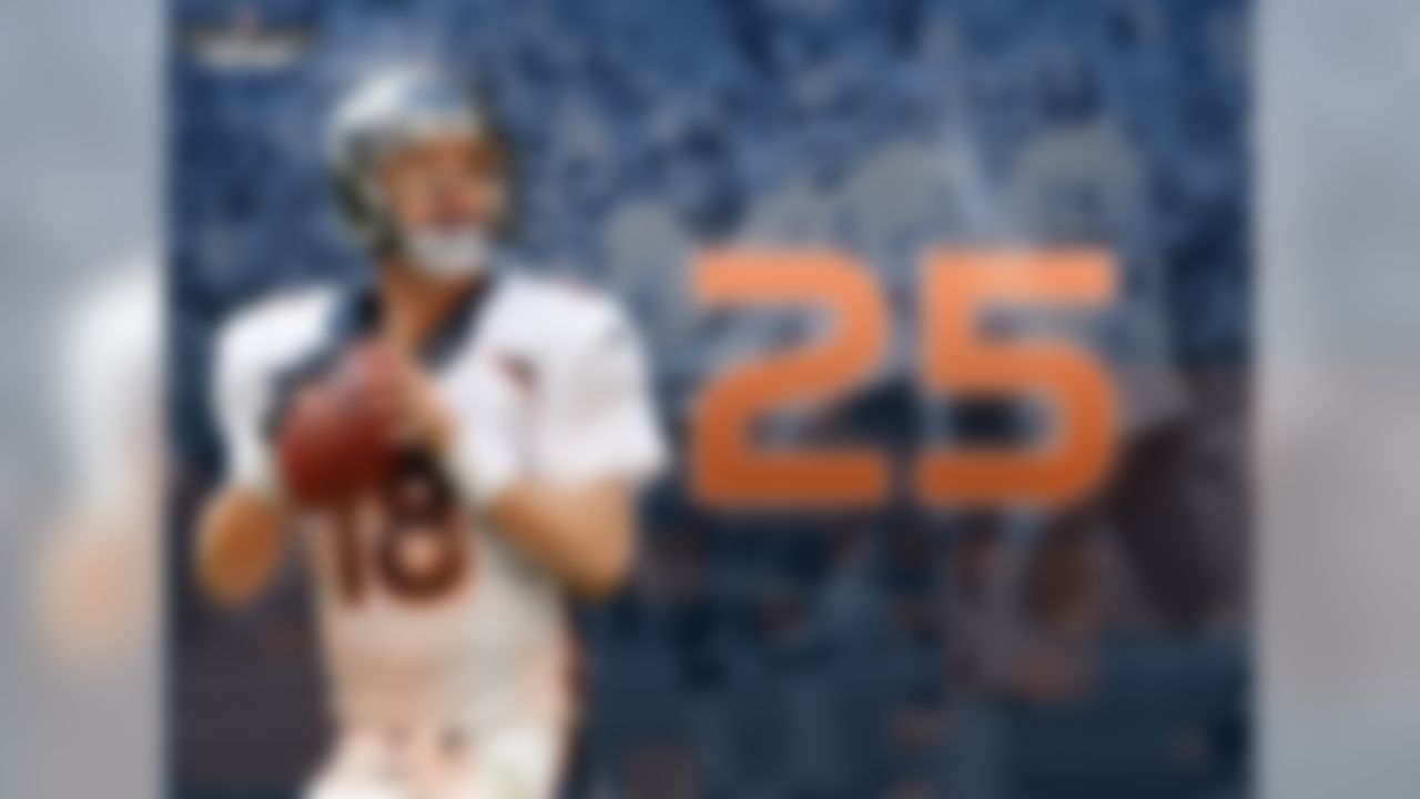 If the Broncos score 25-plus points in Week 17, they will become the second team since 1940 to score at least 25 points in 15 games in a single season.  The other team to accomplish this feat was the 1983 Washington Redskins with Joe Theismann, John Riggins and Art Monk.  Those Redskins advanced to Super Bowl XVIII before losing to the Los Angeles Raiders, 38-9.