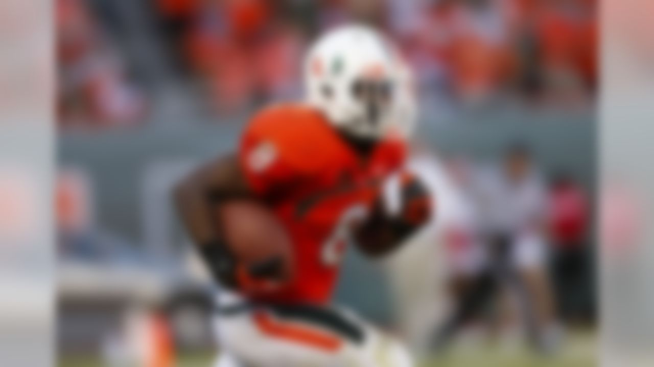 Key 2013 stats: 920 rushing yards, 6 TDs. Buzz: Johnson, a junior, missed the final five games last season with a broken ankle suffered in a loss to Florida State. He has yet to post a 1,000-yard season, but barring injury, that seems a given this fall. He has good speed but is comfortable running between the tackles. His career per-carry average is 6.6 yards, and he has had nine runs of 40-plus yards, 12 of 30-plus yards and 17 of 20-plus yards in his career.