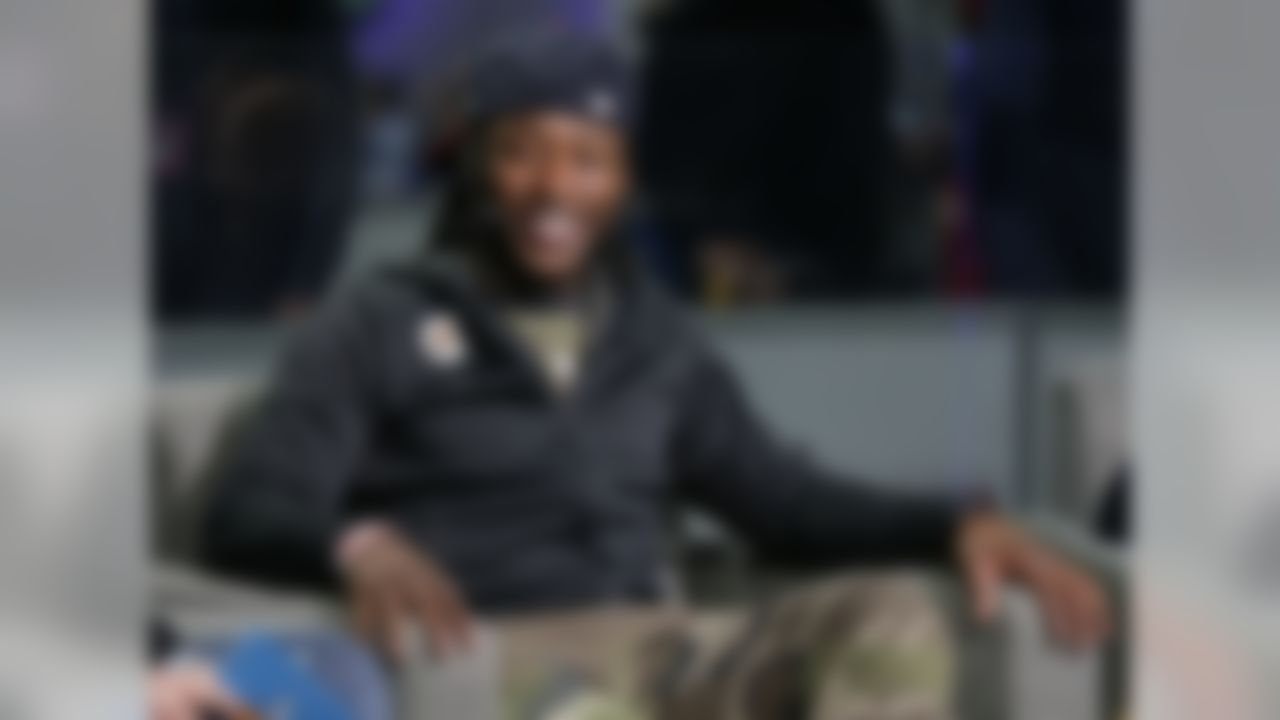 New Orleans Saints running back Alvin Kamara (41) at Super Bowl Today Live, Friday, Feb. 1, 2019 in Atlanta.