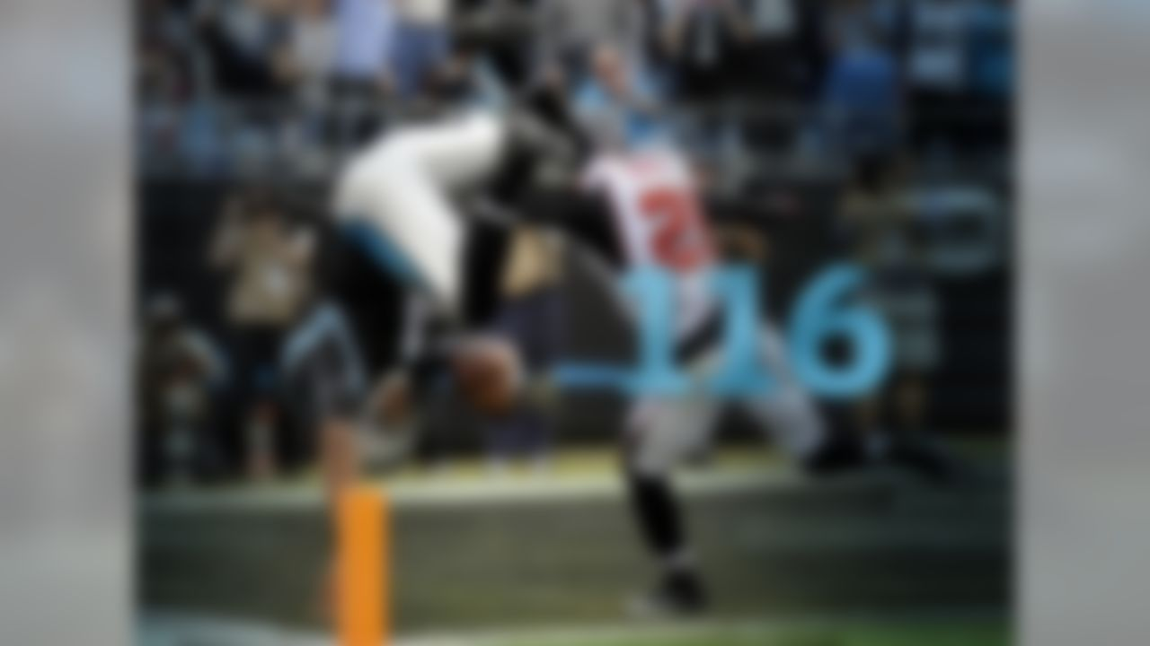 Cam Newton played well against the Atlanta Falcons last season, completing 64.4 percent of his passes with 4 TD, 0 INT and a passer rating of 113.8. What may have left a bigger impression on Atlanta is Newton's running, as he rushed for 85+ yards in both games. His two games versus the Falcons last year are the two best rushing performances of his career. In the Week 4 loss at the Falcons, Newton rushed for 86 yards. In a Week 14 win at home, he rushed for 116 yards – a career high.
