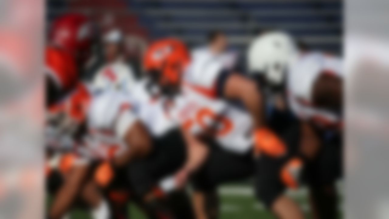 """School: Hobart All-star game: 2015 Senior Bowl Draft: 2015 NFL Draft, second round (No. 61 overall), Tampa Bay Buccaneers  Marpet was the first Division III player chosen to play in the Senior Bowl, and the small-school prospect made the most of his opportunity to go up against the """"big boys."""" Marpet used the Senior Bowl to springboard his draft stock, which continued its rise at the NFL Scouting Combine.  """"The concern was how would he do when he stepped up the competition at the Senior Bowl, and he answered the bell,"""" NFL Media analyst Daniel Jeremiah said when the Bucs selected Marpet in the draft. """"He got better each and every day."""""""