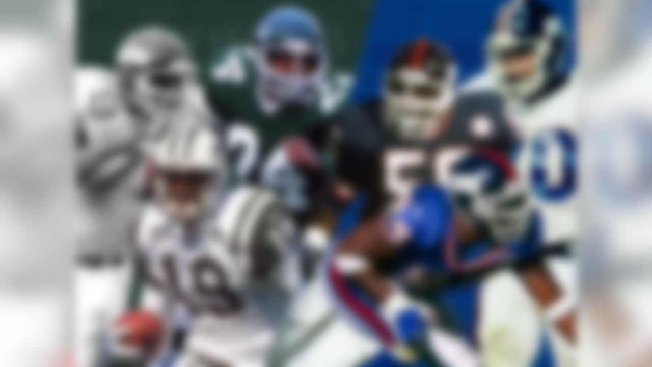 The Giants hold the second overall pick and the Jets have the third overall pick in the 2018 NFL Draft. Should both teams keep those picks, it would mark the fourth time in the Common Draft Era (since 1967) that both New York teams picked in the Top 5. In 1977, the Jets took tackle Marvin Powell fourth overall, followed by the Giants selecting defensive tackle Gary Jeter fifth. In 1981, the Giants selected linebacker Lawrence Taylor second overall, while the Jets nabbed running back Freeman McNeil third. And in 1996, the Jets used the No. 1 overall pick on wide receiver Keyshawn Johnson, with the Giants taking defensive end Cedric Jones fifth.
