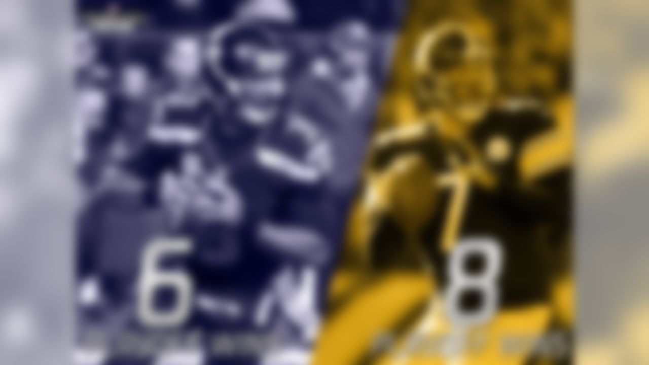 The meeting between the Steelers and Seahawks will be played on Russell Wilson's 27th birthday. The only player in NFL history with more playoff wins than Wilson before his 27th birthday is his Week 12 opponent, Ben Roethlisberger (Roethlisberger eight, Wilson six). No player has more Super Bowl starts by age 27 than Wilson (tied with Roethlisberger and Tom Brady).