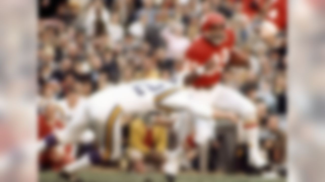 In the final game before the AFL-NFL merger, the Chiefs pulled off the upstart league's second straight upset win over the established NFL, downing the Vikings, 23-7.   Watch the video.
