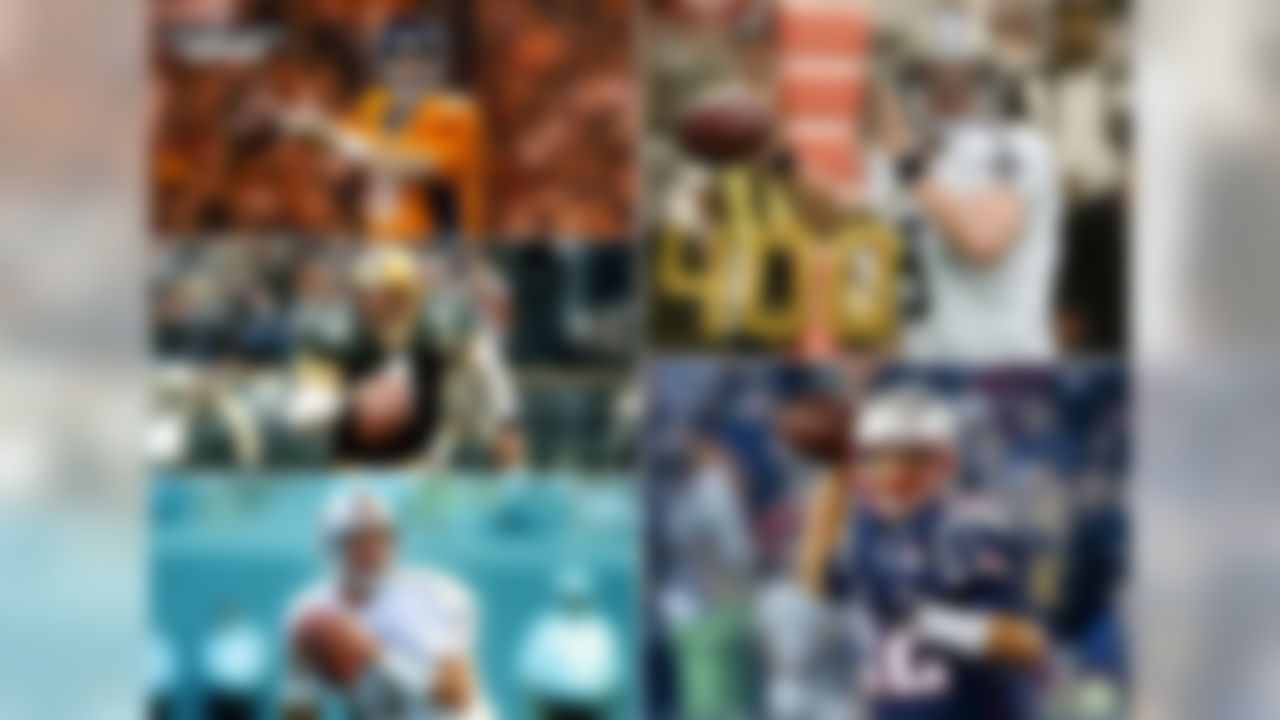 Over the course of the NFL's first 96 seasons, only 3 players have ever amassed 400 career passing touchdowns: Peyton Manning, Brett Favre, and Dan Marino. Over the course of mere minutes on Sunday last week, two more could join that list. Drew Brees needs 3 passing touchdowns to join the 400 club, while Tom Brady needs 4.