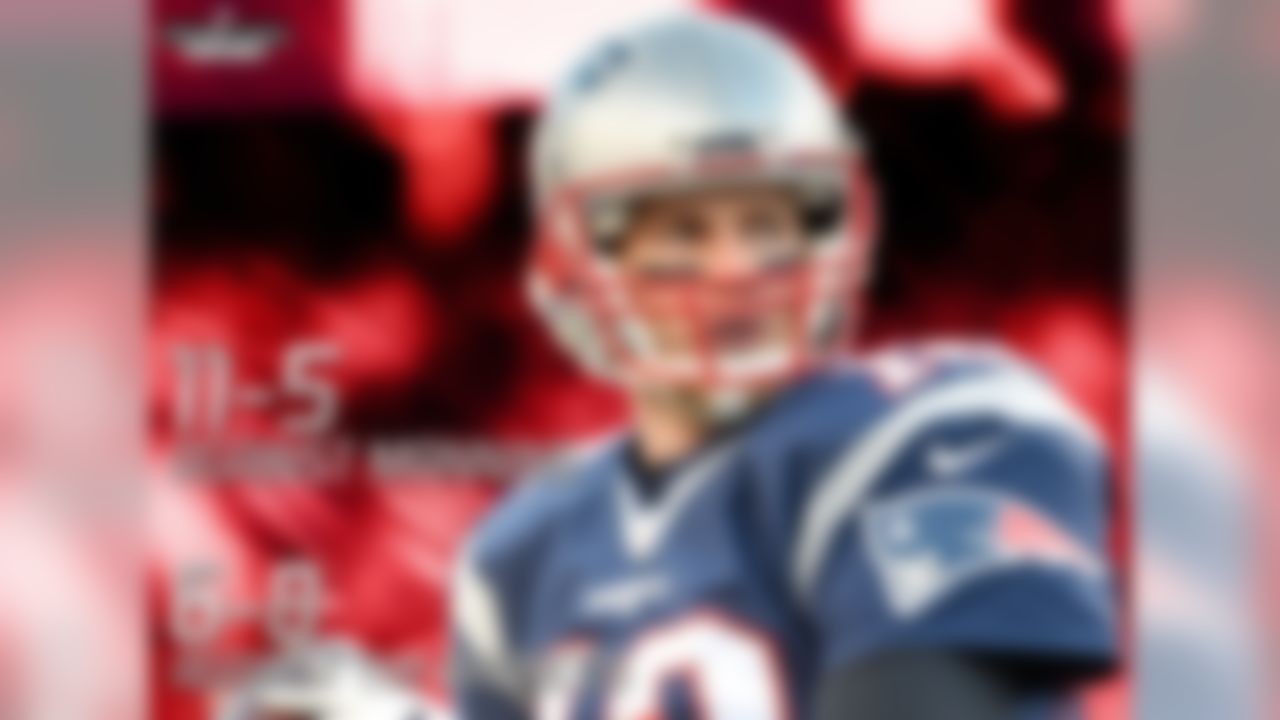 Despite Tom Brady's record of 11-5 against Peyton Manning, he is 6-8 in his career vs. the Denver Broncos (including playoffs). The Broncos are the only team in the NFL that Brady has a losing record against as a starting quarterback, and his 2-6 mark on the road in Denver is his worst road record against any team in the NFL.