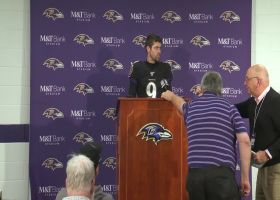 Justin Tucker channels RB Mark Ingram in postgame press conference