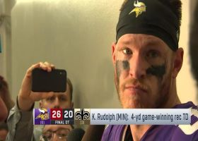 Kyle Rudolph on game-winning TD in wild-card game: 'Go up and get the rebound'