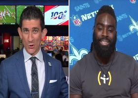 New Orleans Saints linebacker Demario Davis discusses leading pregame hype speech with quarterback Drew Brees