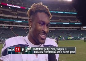 D.K. Metcalf describes his record day vs. Eagles