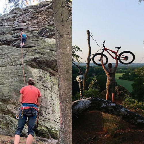 Klettern und Mountainbiken im Teutoburger Wald