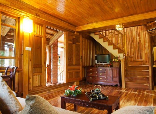 Thiết kế nội thất nhà gỗ hiện đại cho không gian sang trọng