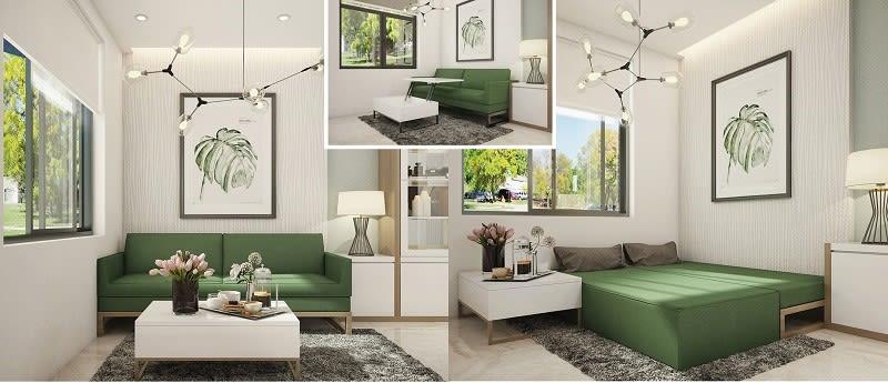 Trang trí phòng khách cho nhà phố hiện đại