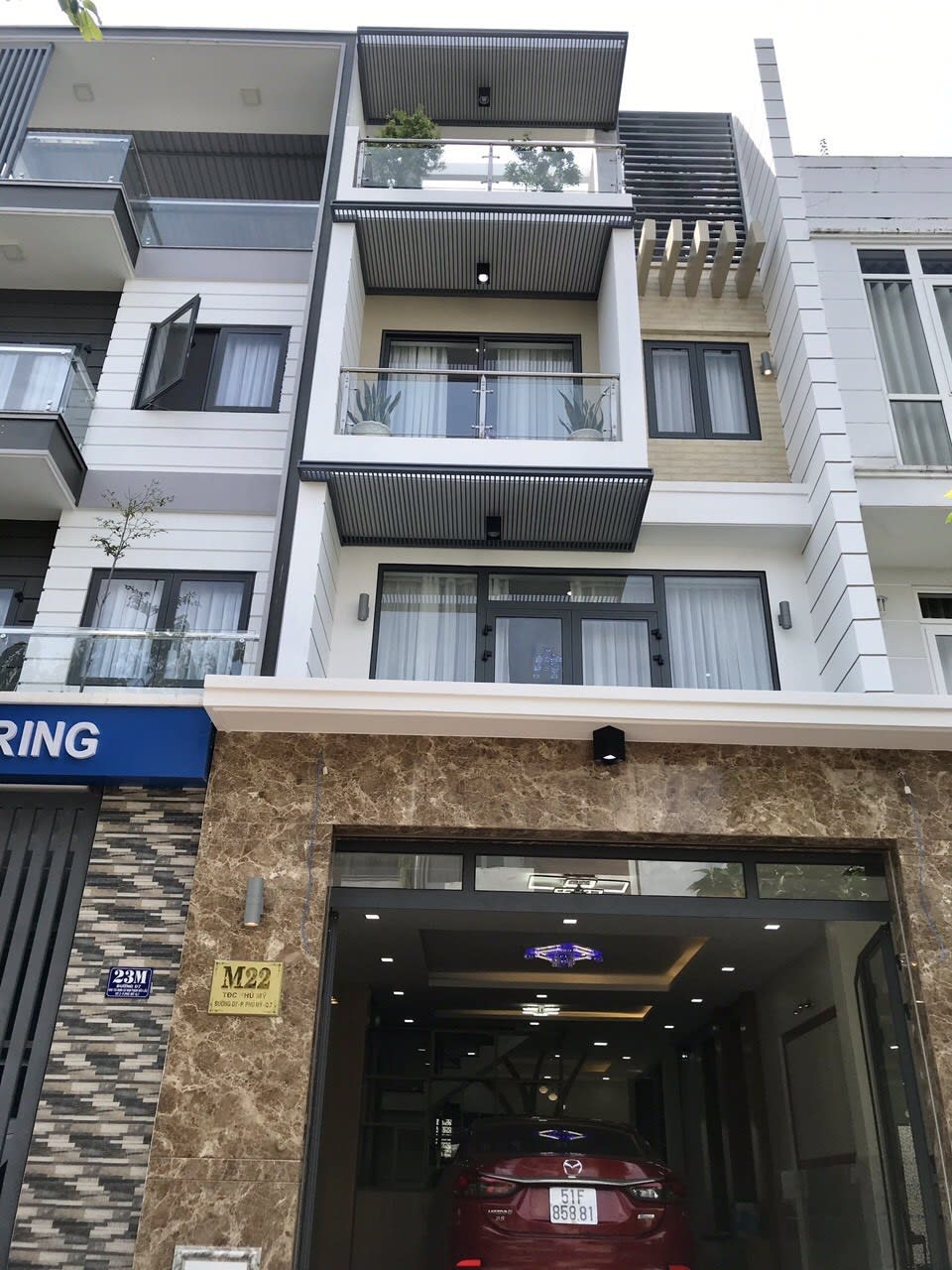 Bán nhà phố khu Tái định cư Phú Mỹ quận 7 5x18m 4 tầng full nội thất, giá 9.9 tỷ