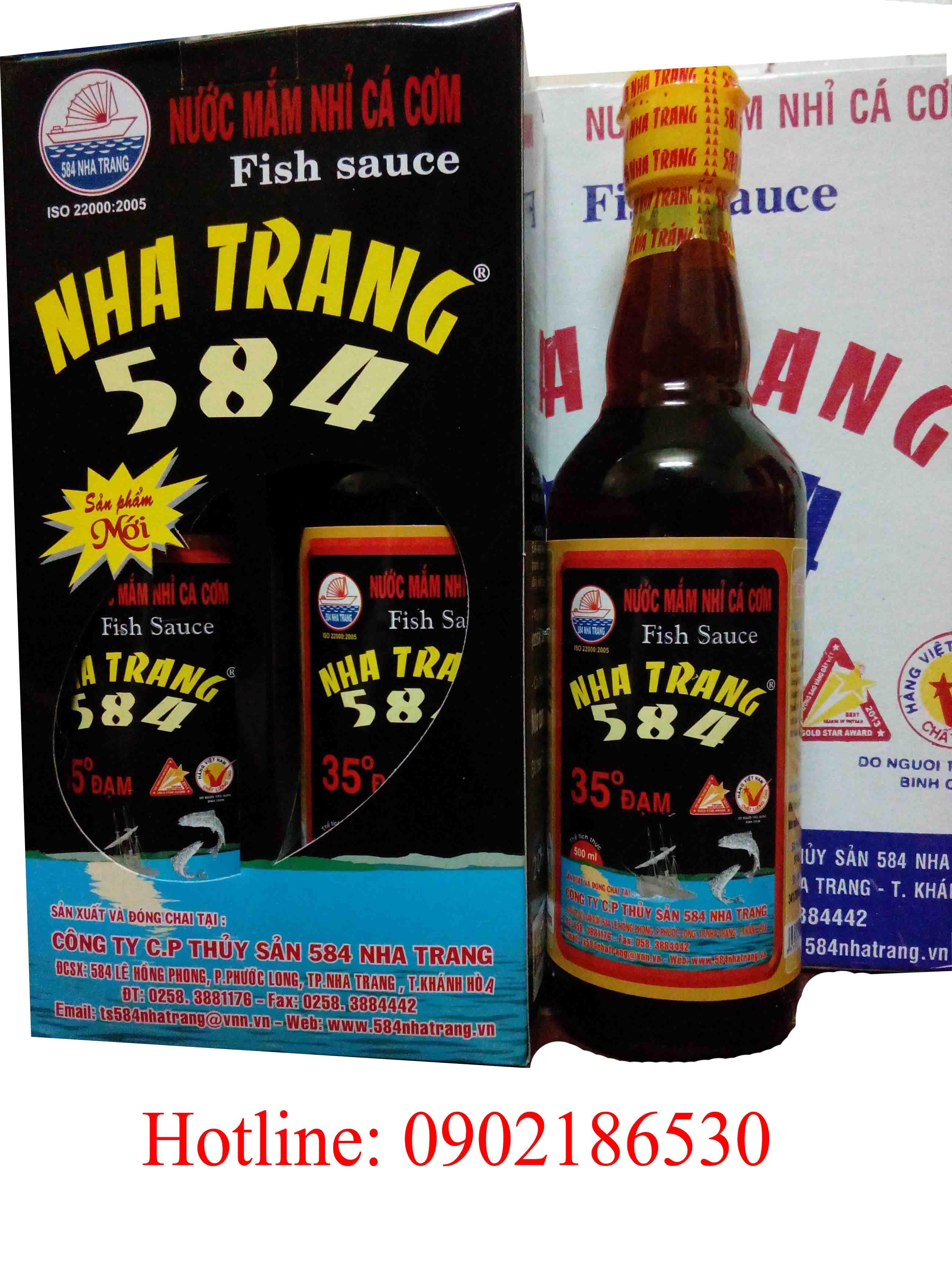 Nước mắm 584 Nha Trang 35 độ đạm (chai thủy tinh)