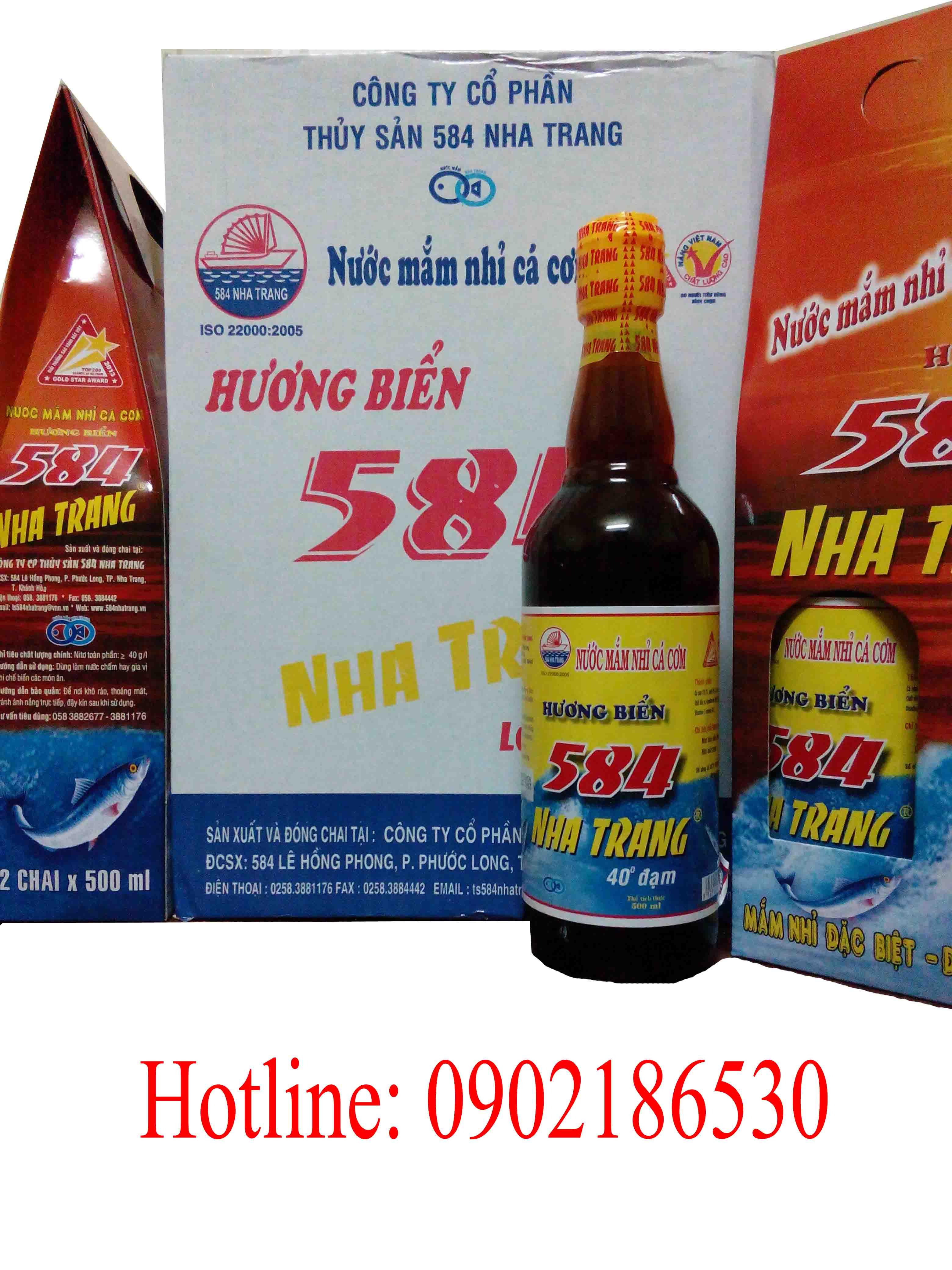 Nước mắm 584 Nha Trang 40 độ đạm (chai thủy tinh)