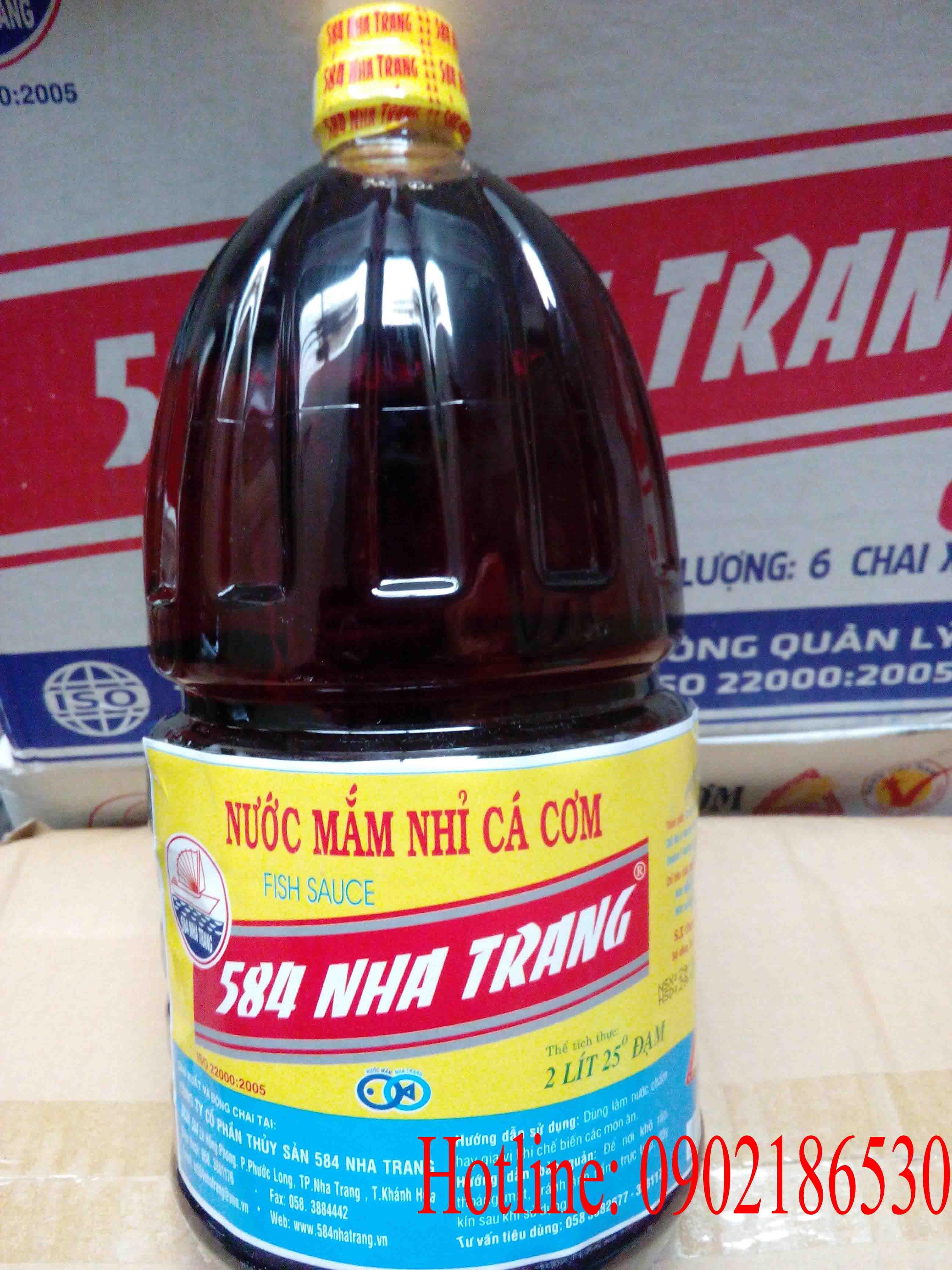Nước mắm 584 Nha Trang P225 (2 lit 25 đạm)
