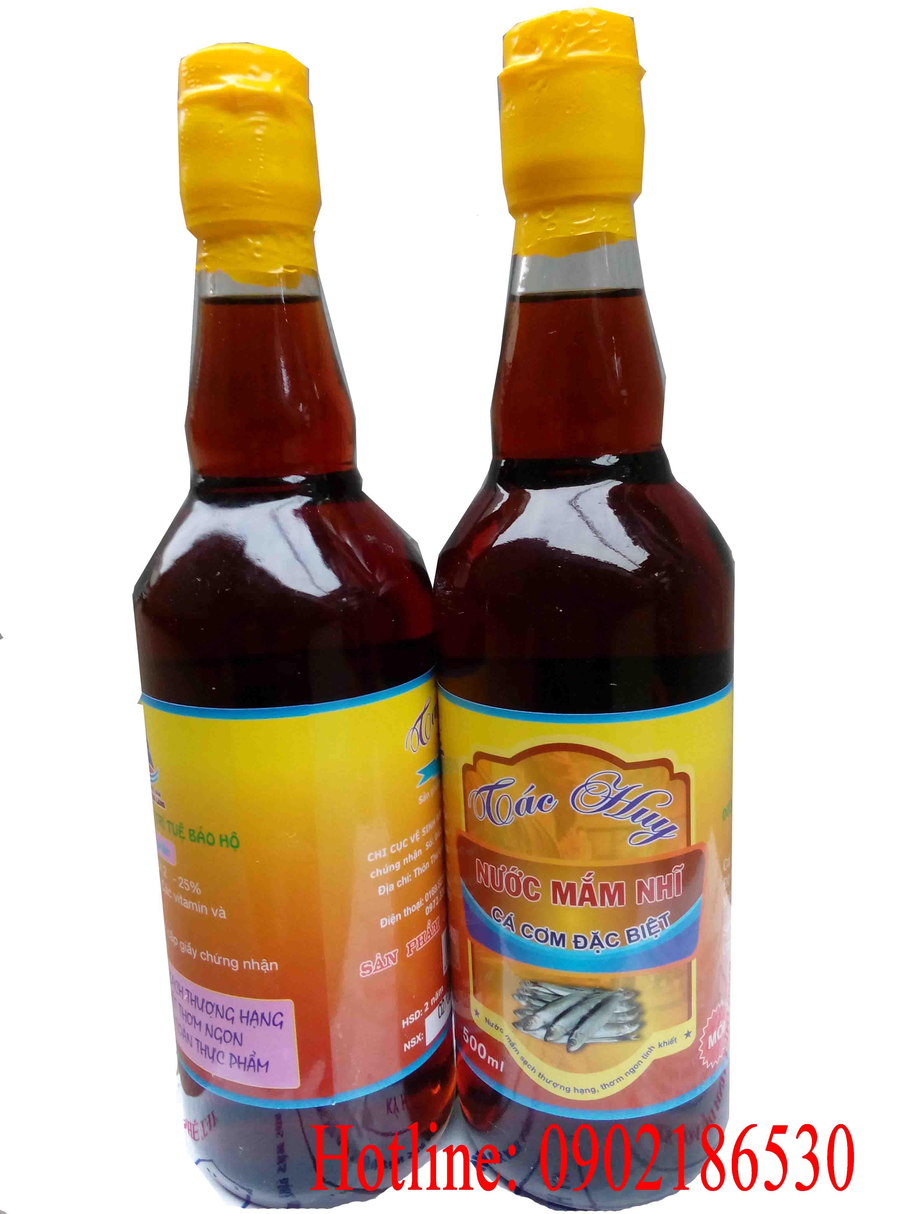 Nước mắm cốt (rút nỏ) đặc biệt Thanh Hóa (chai thủy tinh 500ml)