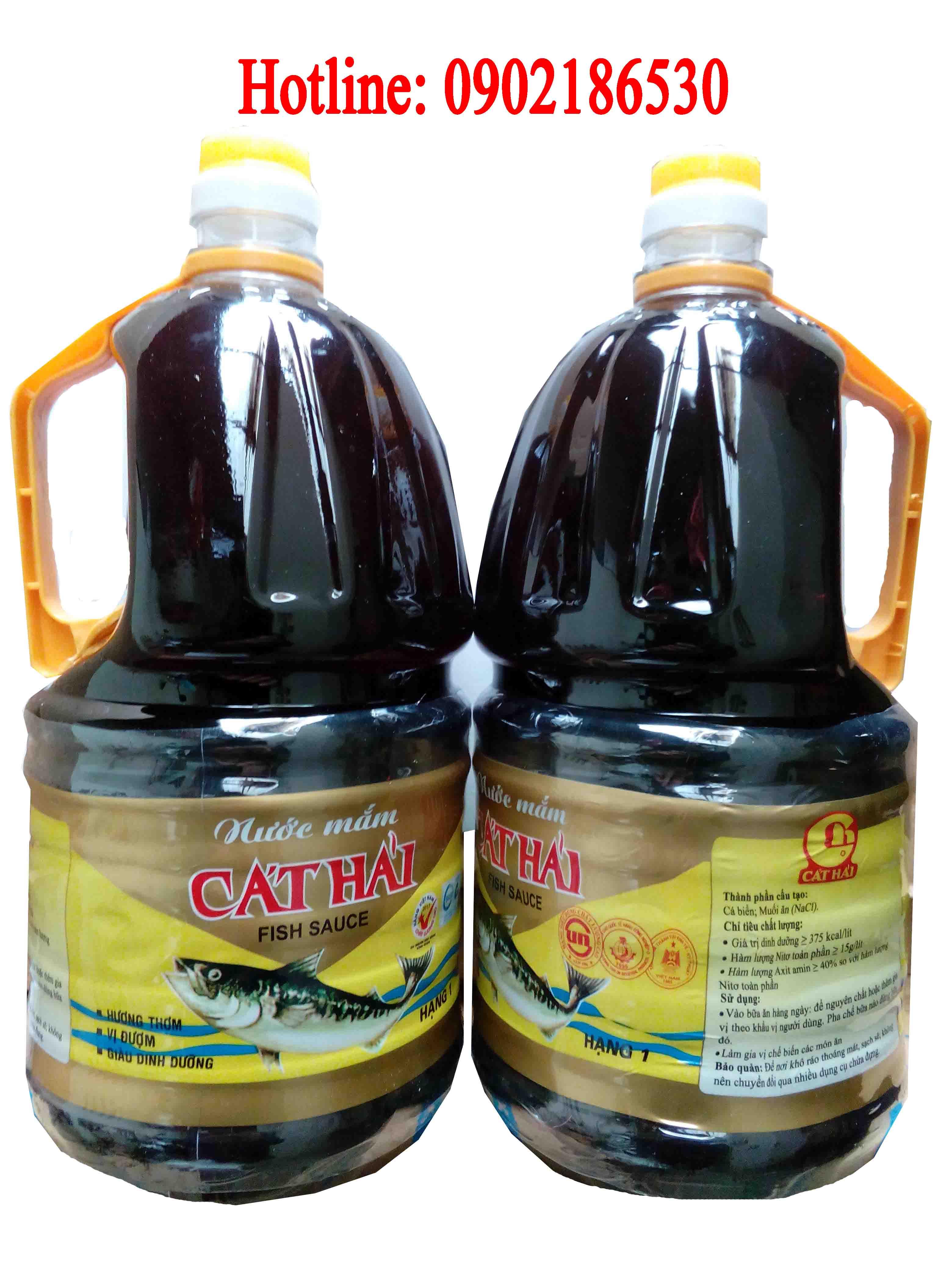 Nước mắm Cát hải Hạng 1 (can 2 lit)