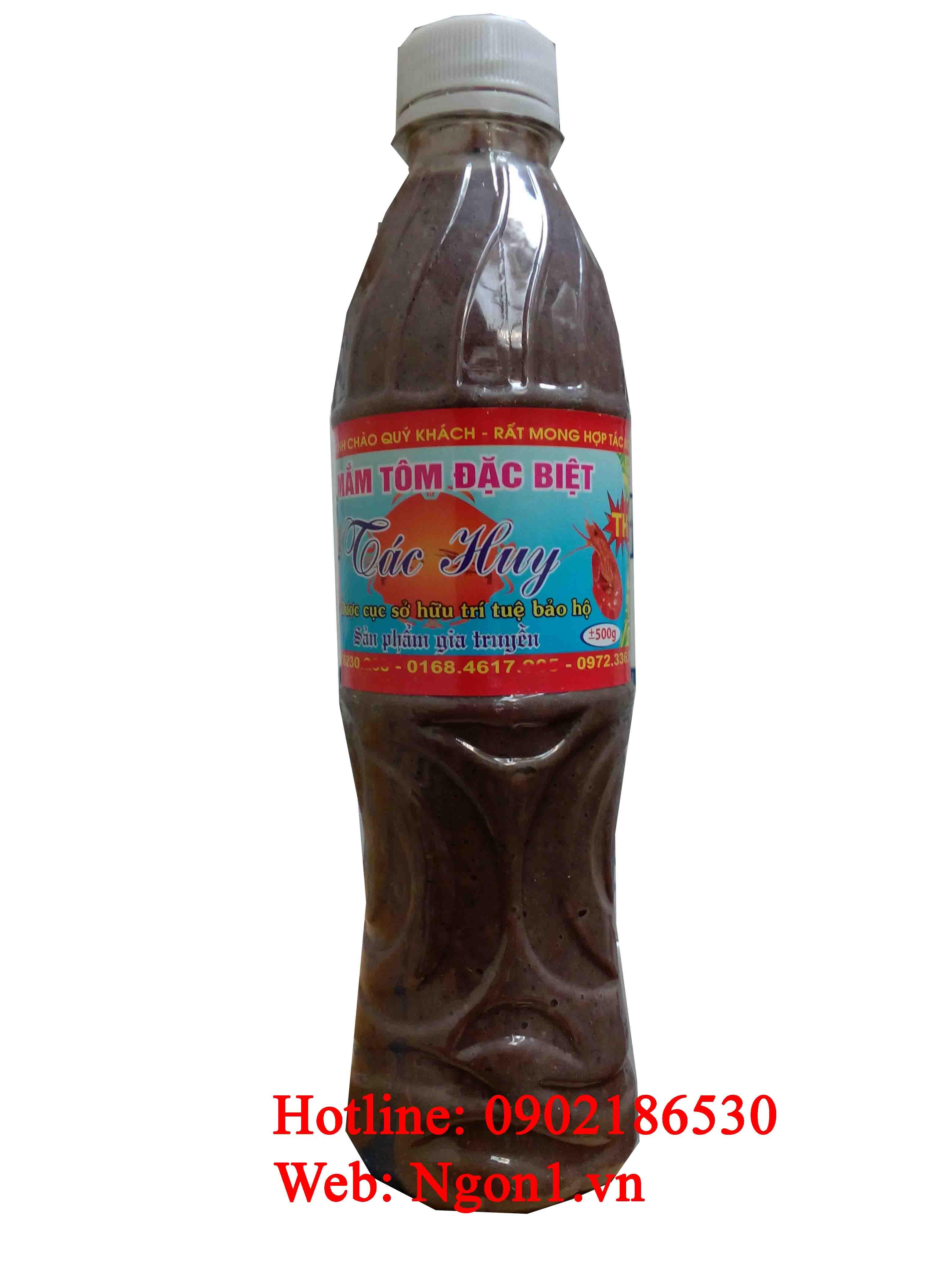 Mắm tôm đặc sản Thanh Hóa (chai 550ml)