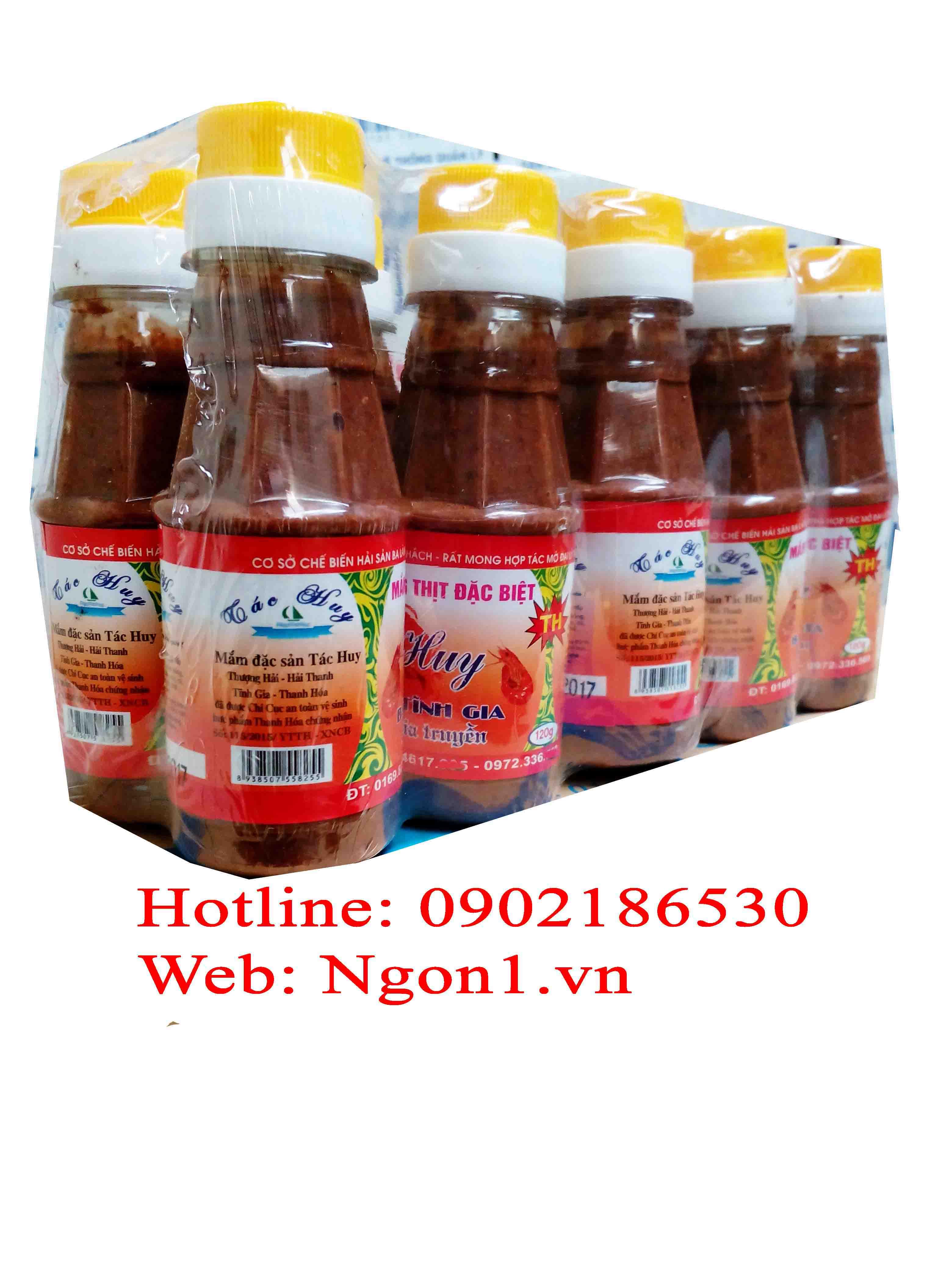 Mắm tép chưng thịt đặc sản Thanh Hóa (chai 120ml)