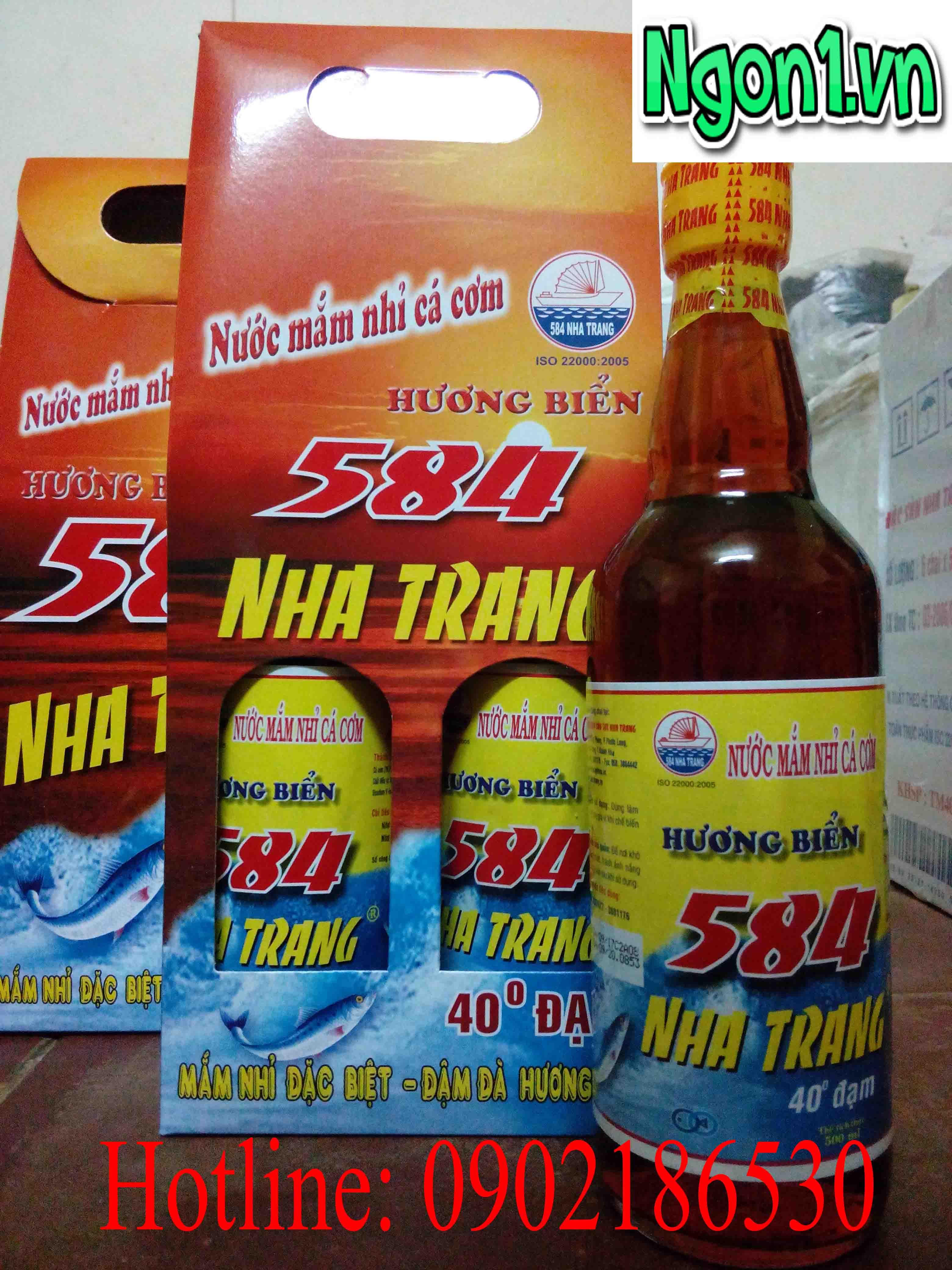 Mua nước mắm 584 Nha Trang 40 độ đạm chai thủy tinh ở đâu?