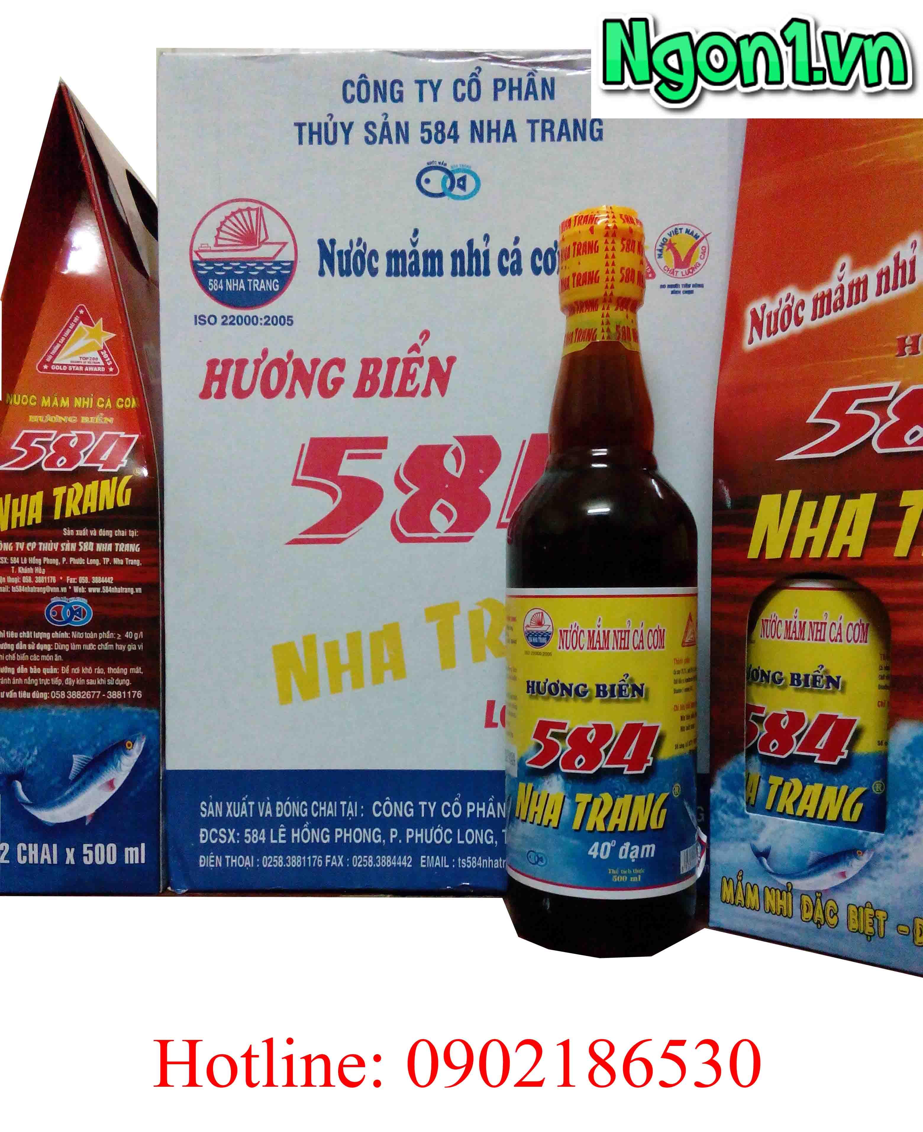 Nước Mắm 584 Nha Trang 40 độ đạm ngon nhất Hà Nội