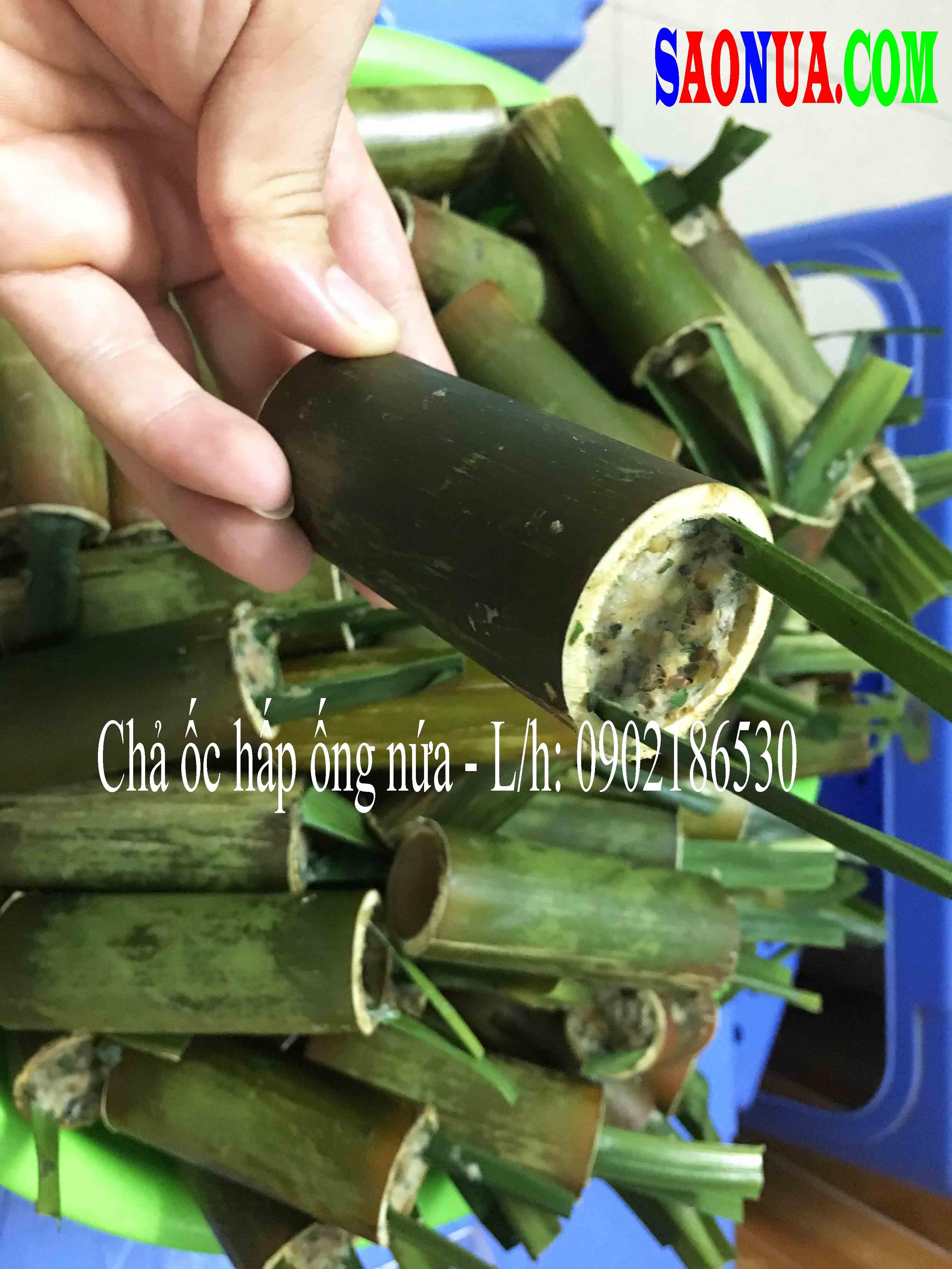 Chả ốc hấp ống nứa - Liên hệ mua hàng: 0902186530