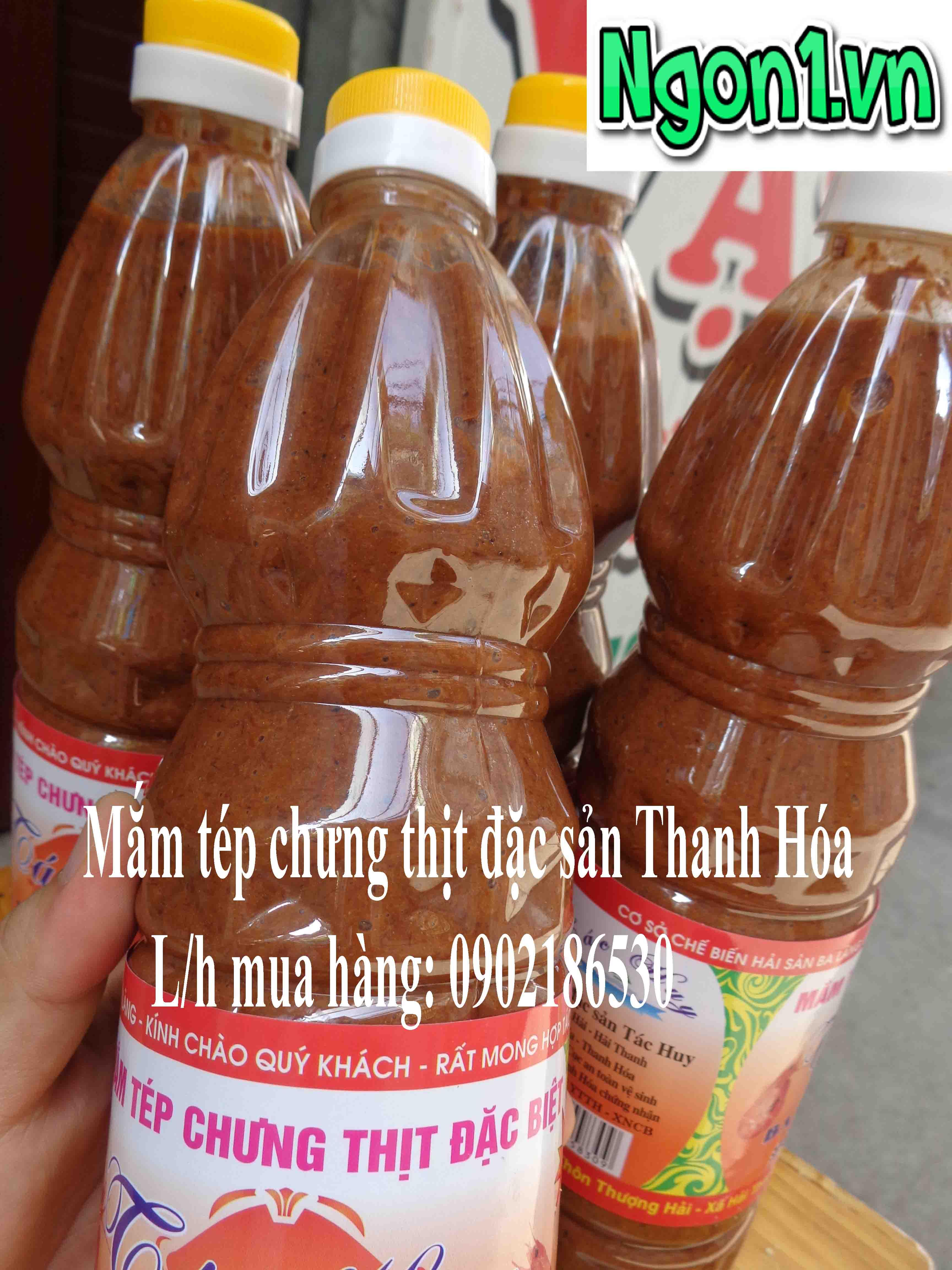 Mắm tép chưng thịt đặc sản Thanh Hóa (chai 1l)