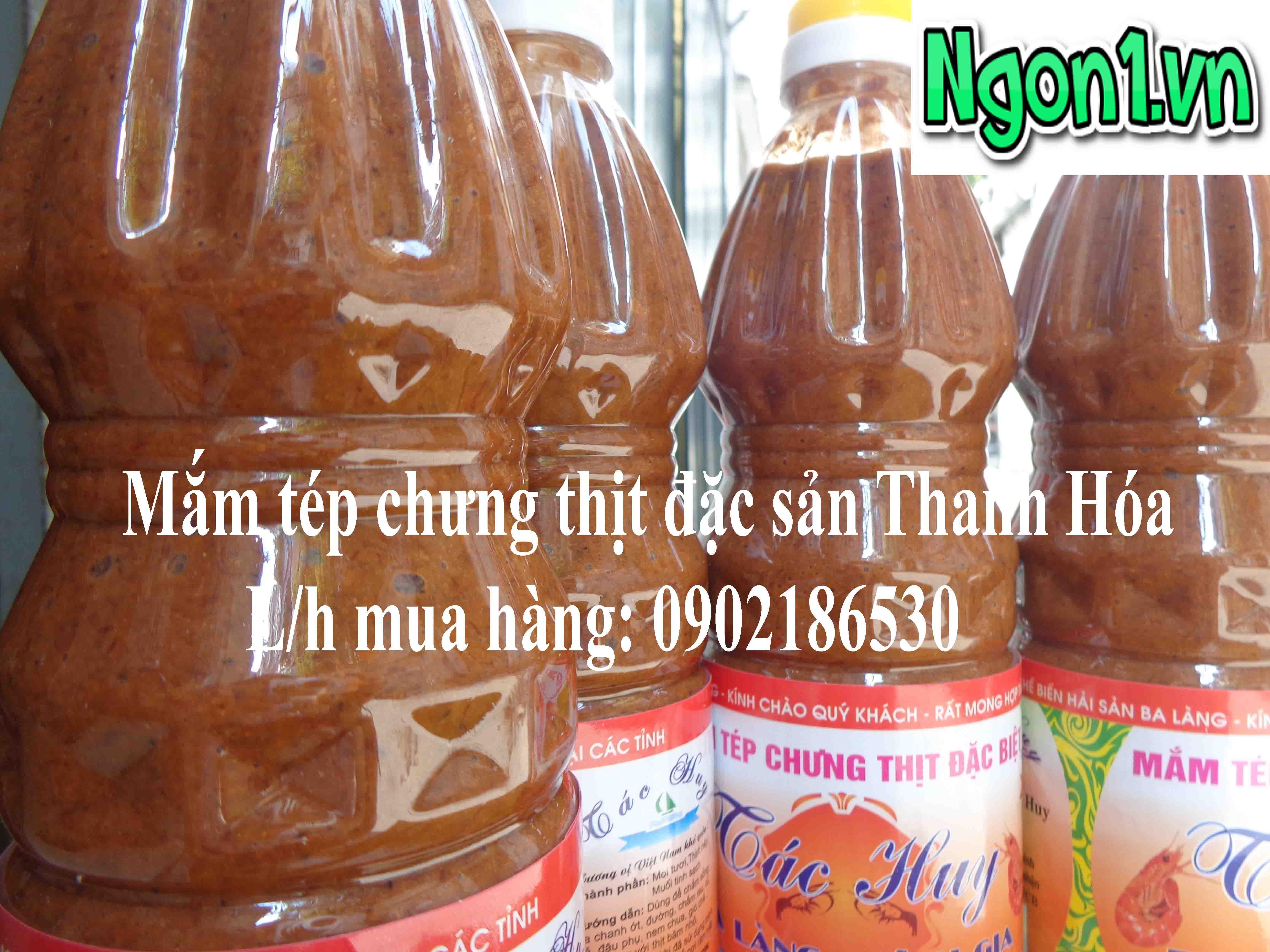 Mắm tép chưng thịt đặc sản Ba làng (chai 1l) - Hotline: 0902186530