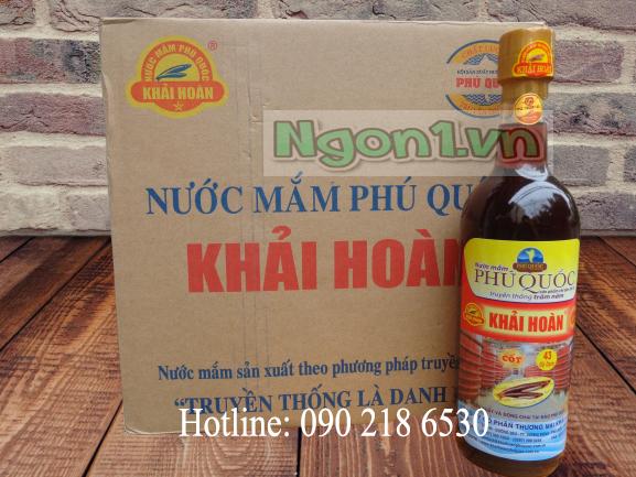 Nước mắm Khải Hoàn - Phú Quốc 43N (chai thủy tinh 520ml)