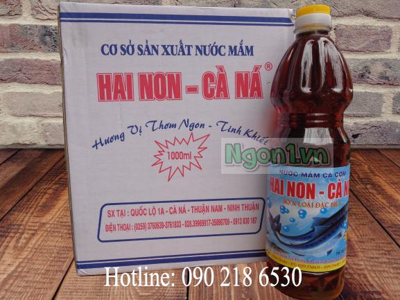 Nước mắm Hai Non - Cà Ná 30 độ đạm (6 chai 1l/ thùng)