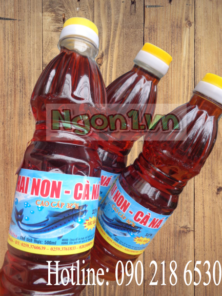 Nước mắm Hai Non Cà Ná 32 độ đạm (6 chai 500ml/ thùng)