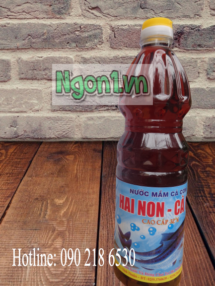 Nước mắm Hai Non Cà Ná 32 độ đạm (6 chai 1l/ thùng)