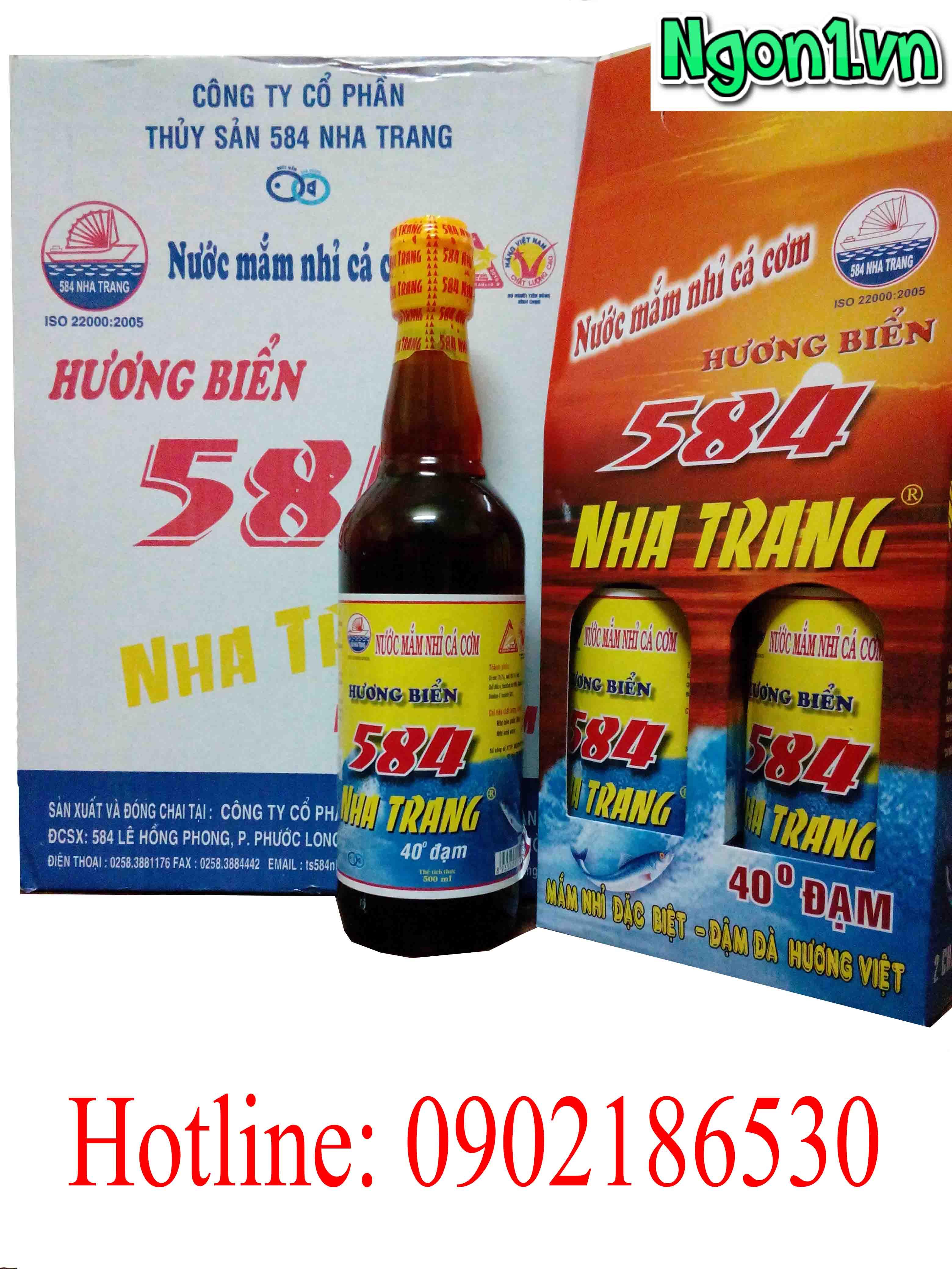 Nước mắm Nha Trang 40 độ đạm chai thủy tinh 500ml
