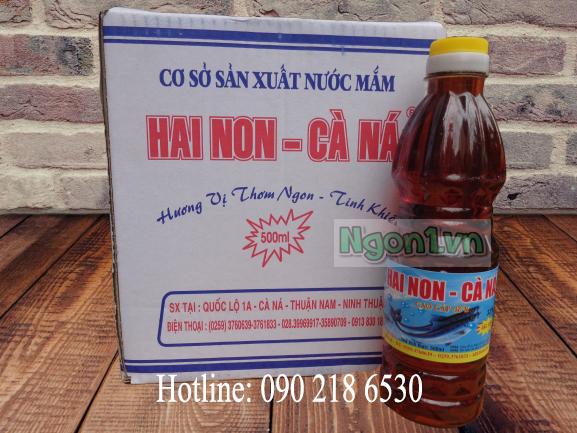 Nước mắm Hai Non Cà Ná 32 độ đạm chai 500ml - Hotline: 0902186530