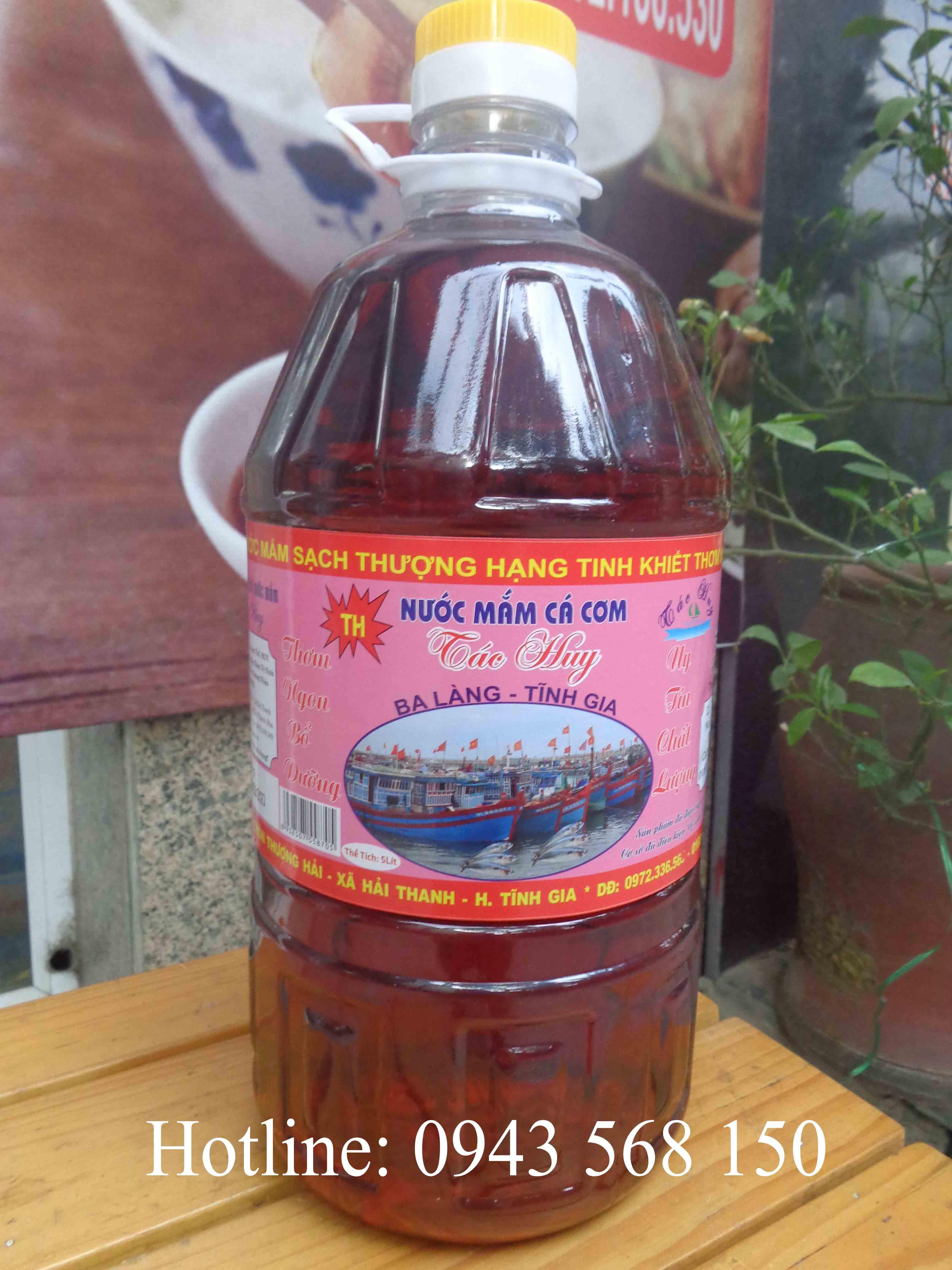 Nước mắm cá cơm Ba làng - Thanh Hóa (can 5l) siêu tiết kiệm!