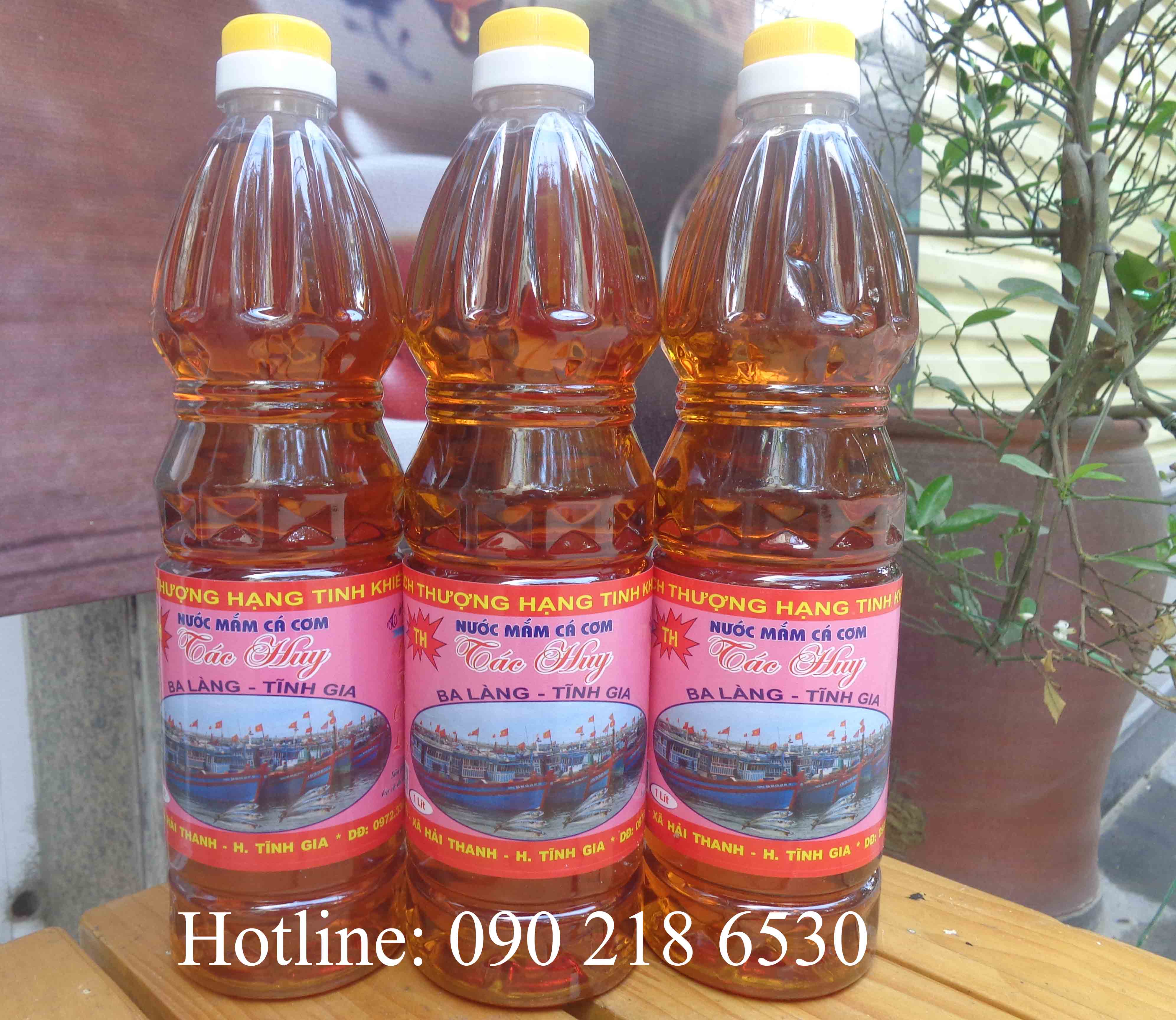 Nước mắm cốt siêu tiết kiệm sử dụng trong gia đình (chai 1l)