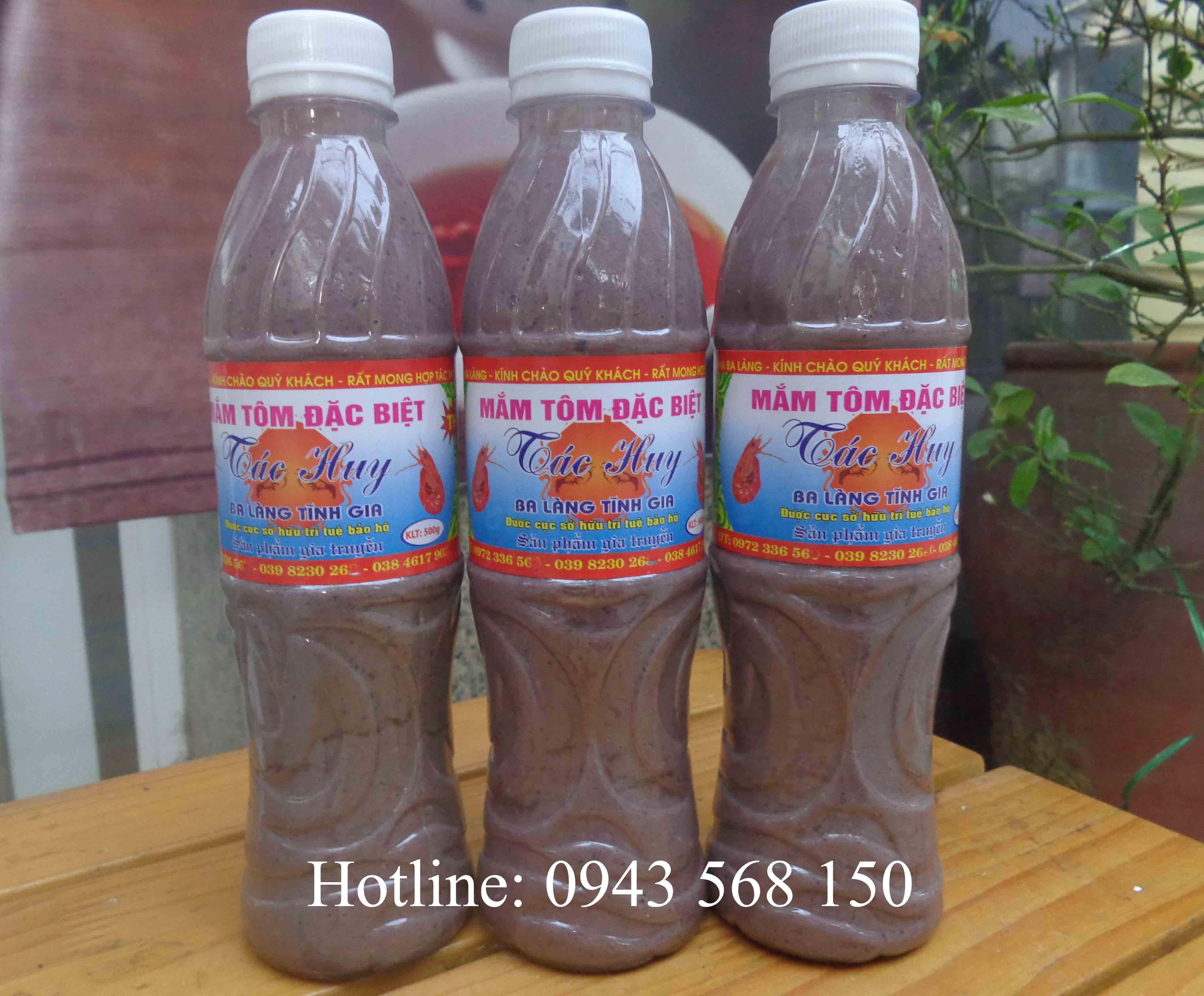 Mắm tôm ngon đặc sản Thanh Hóa (chai 500ml)