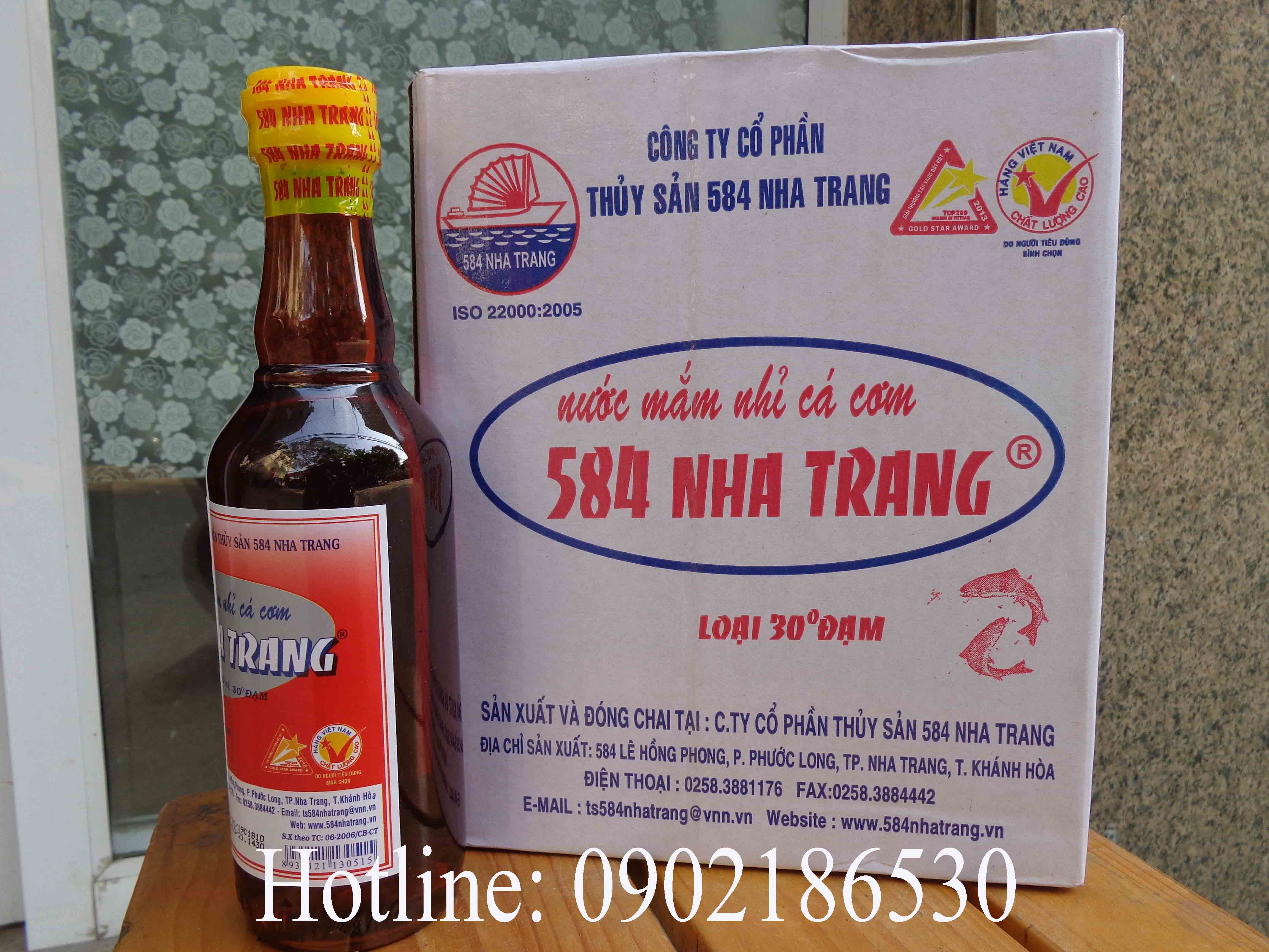 Nước mắm Nha Trang 30 độ đạm (chai thủy tinh)